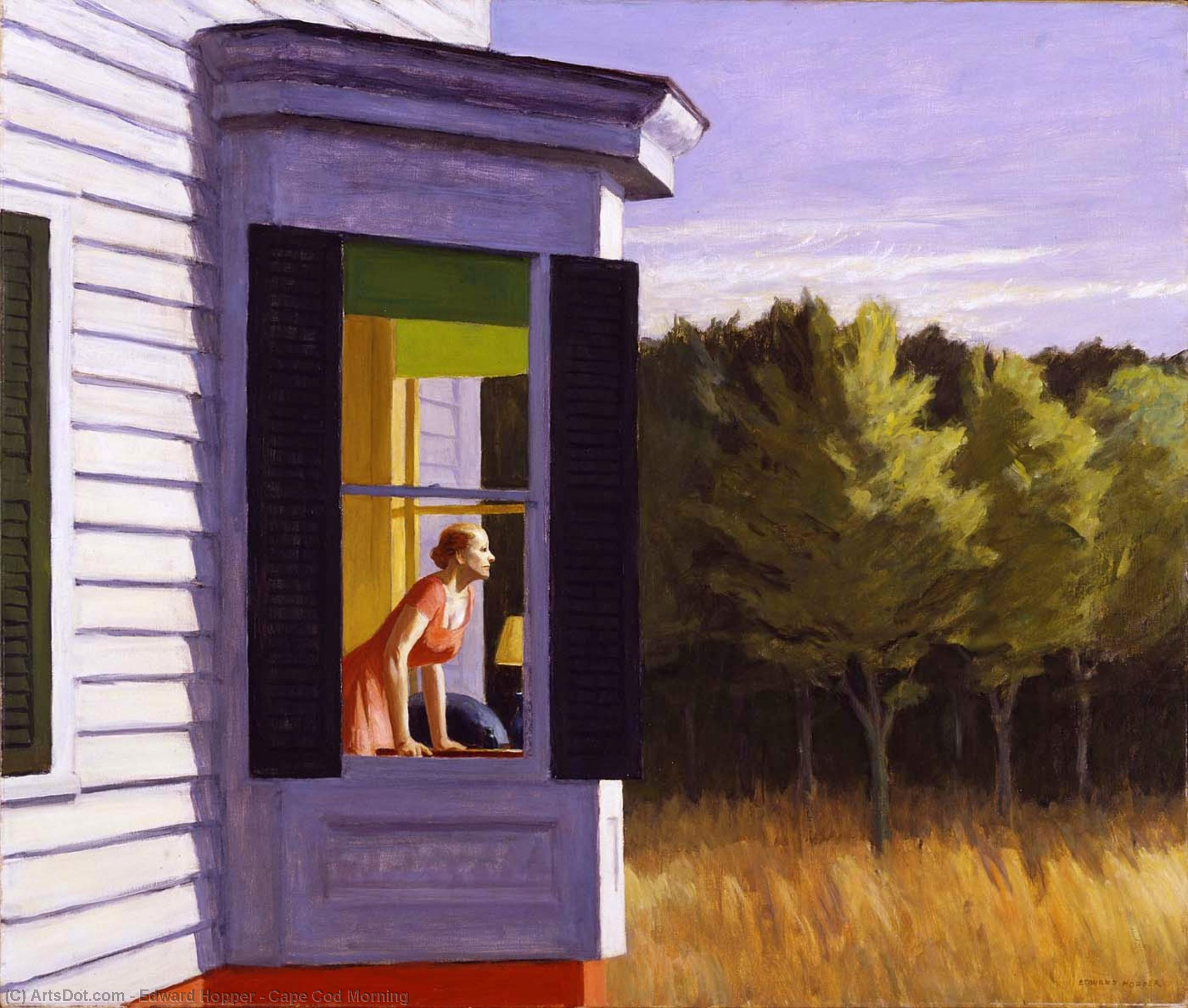 Cape Cod Morning, 1950 by Edward Hopper (1931-1967, United States) |  | ArtsDot.com