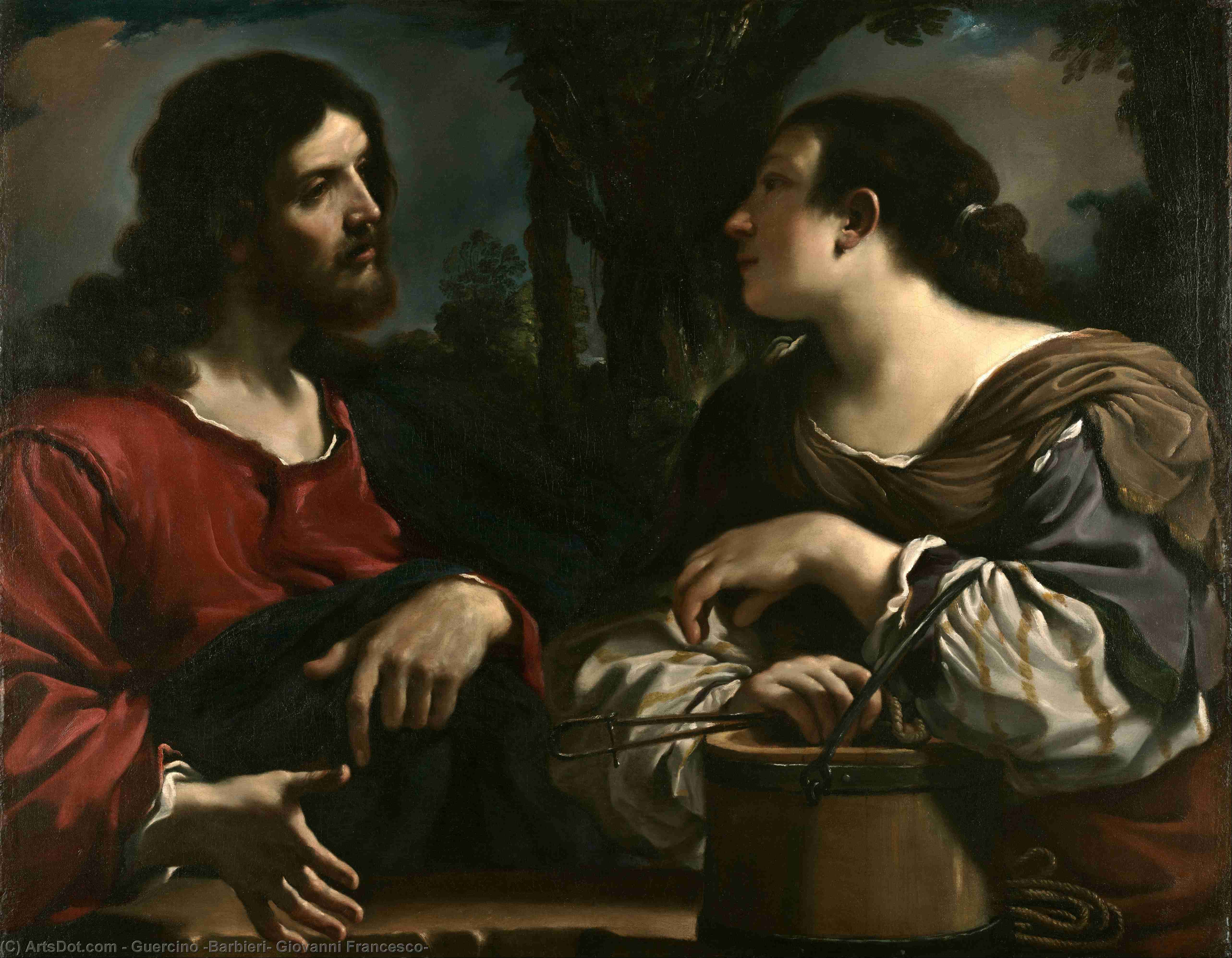 Saint Peter Freed by an Angel, Oil by Guercino (Barbieri, Giovanni Francesco) (1591-1666, Italy)