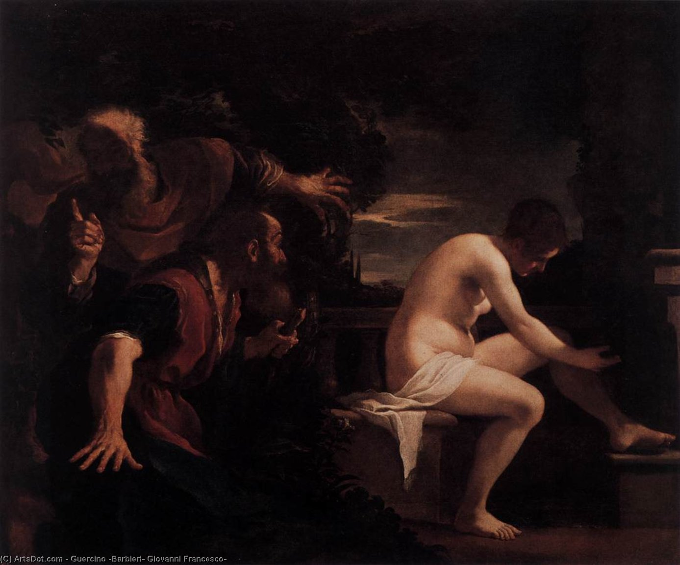 Order Museum Quality Reproductions : Susanna and the Elders by Guercino (Barbieri, Giovanni Francesco) (1591-1666, Italy) | ArtsDot.com