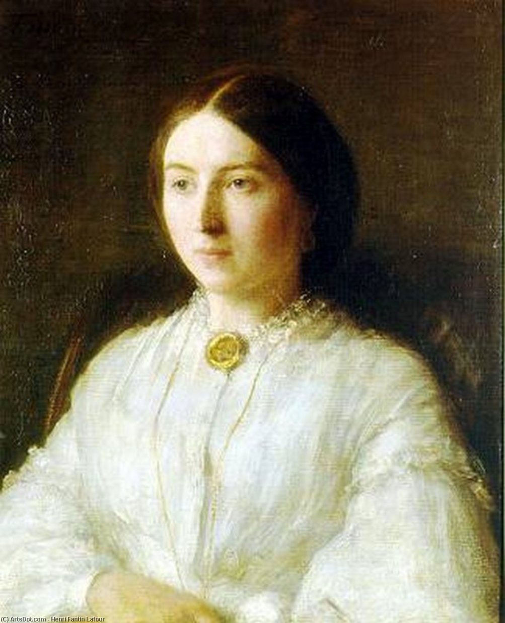 Ritratto di Ruth Edwards, Oil by Henri Fantin Latour (1836-1904, France)