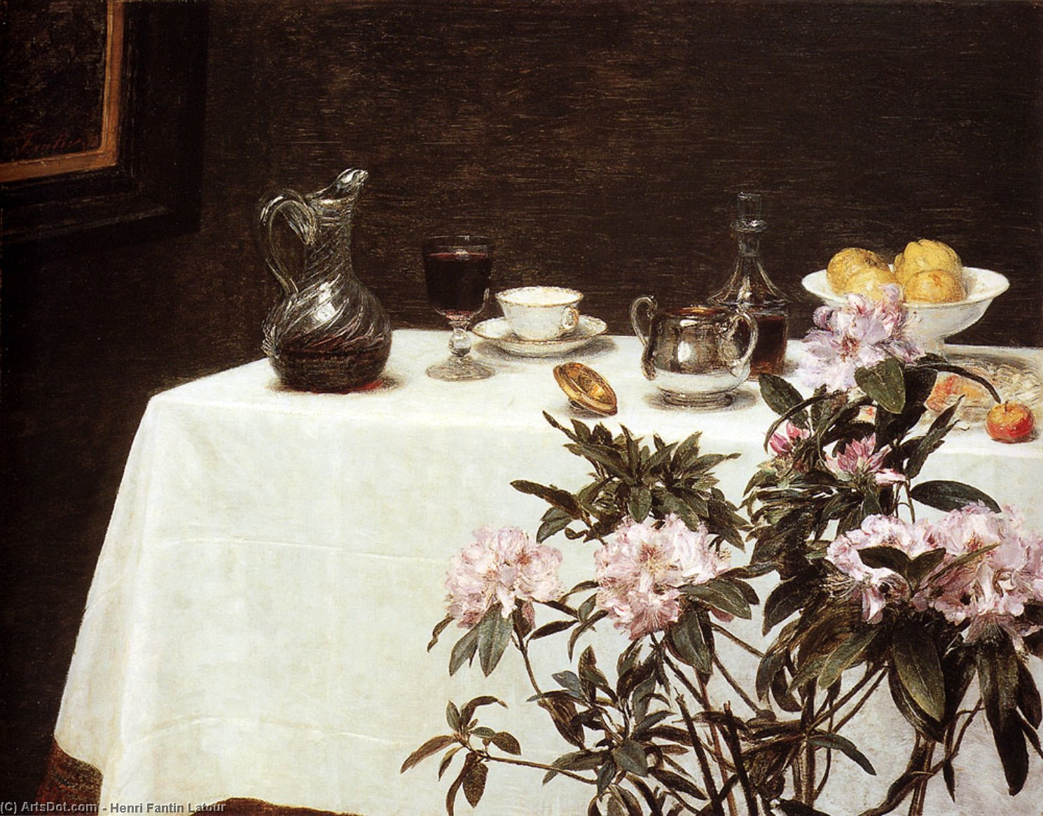 Still Life. Corner Of A Table, Oil by Henri Fantin Latour (1836-1904, France)