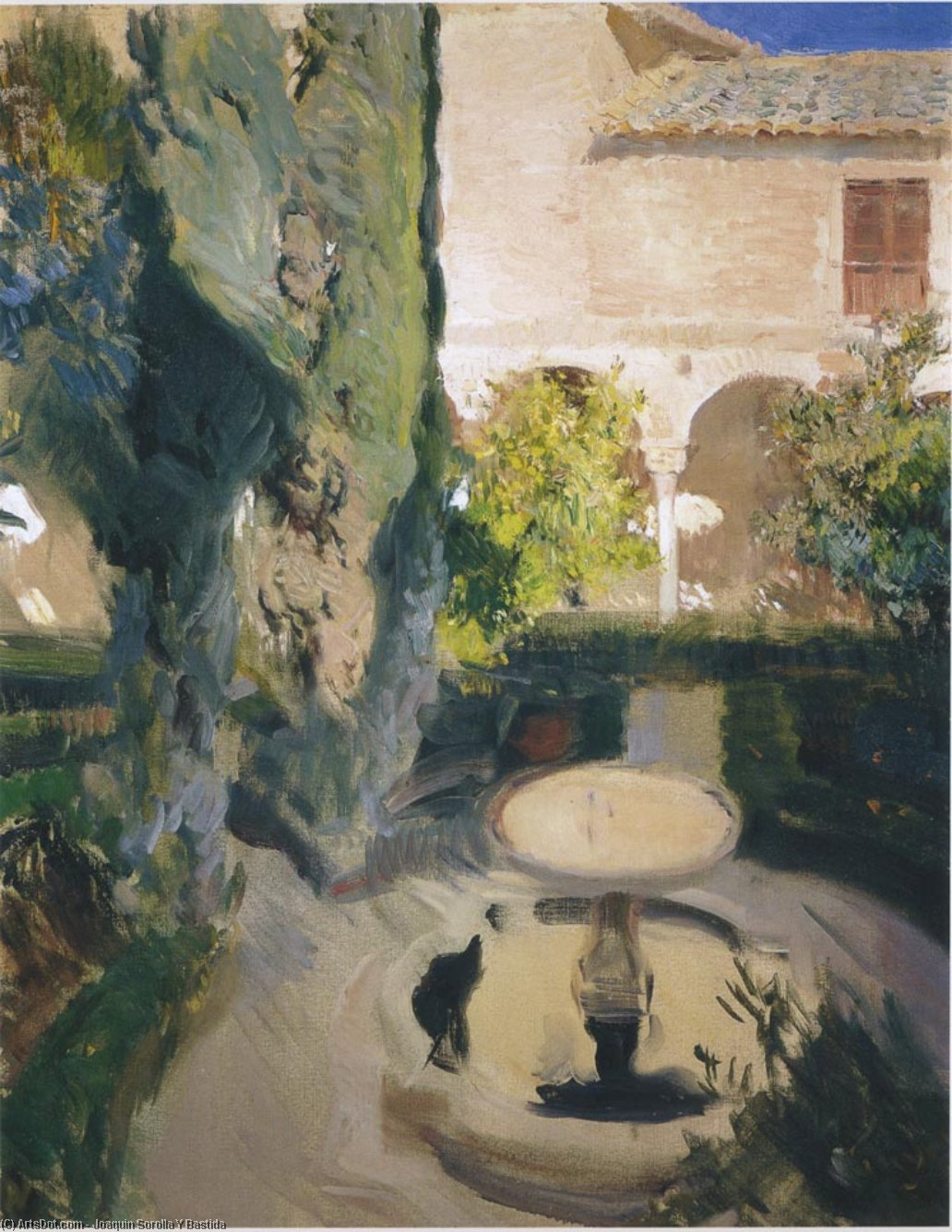 Garden of Lindaraja, Oil On Canvas by Joaquin Sorolla Y Bastida (1863-1923, Spain)