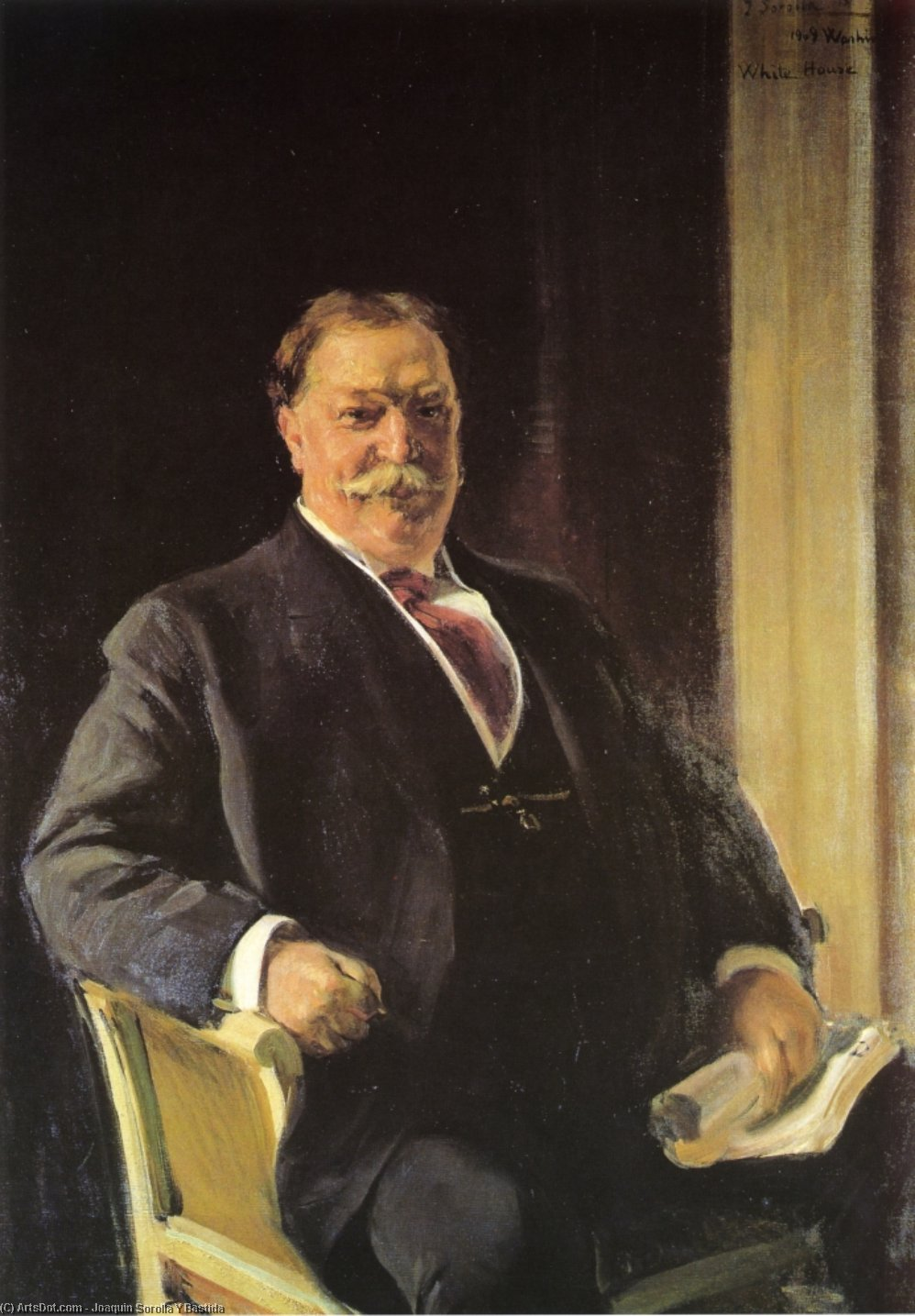President Taft, Oil On Canvas by Joaquin Sorolla Y Bastida (1863-1923, Spain)