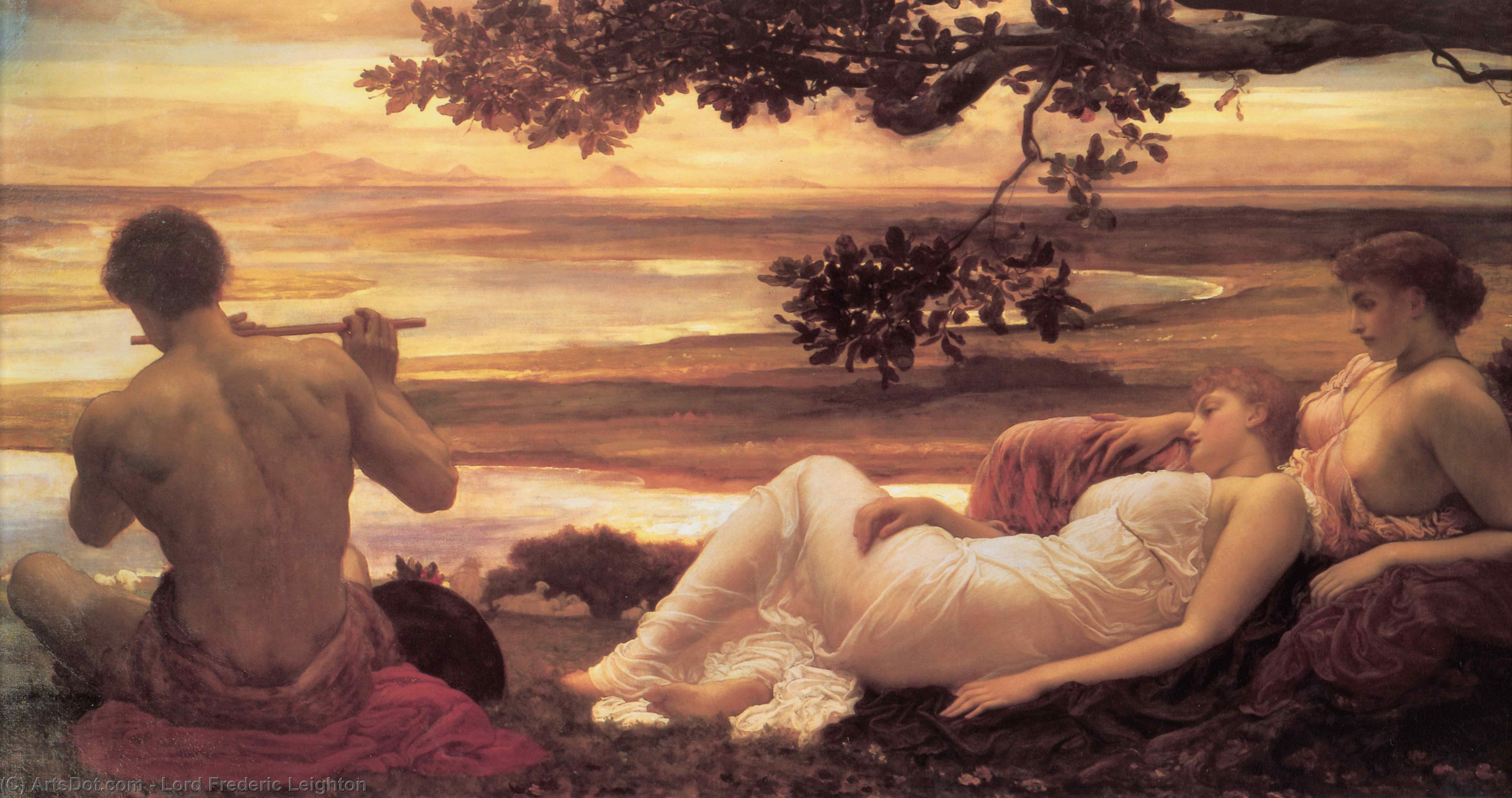 Idyll by Lord Frederic Leighton (1830-1896, United Kingdom) | Museum Art Reproductions Lord Frederic Leighton | ArtsDot.com