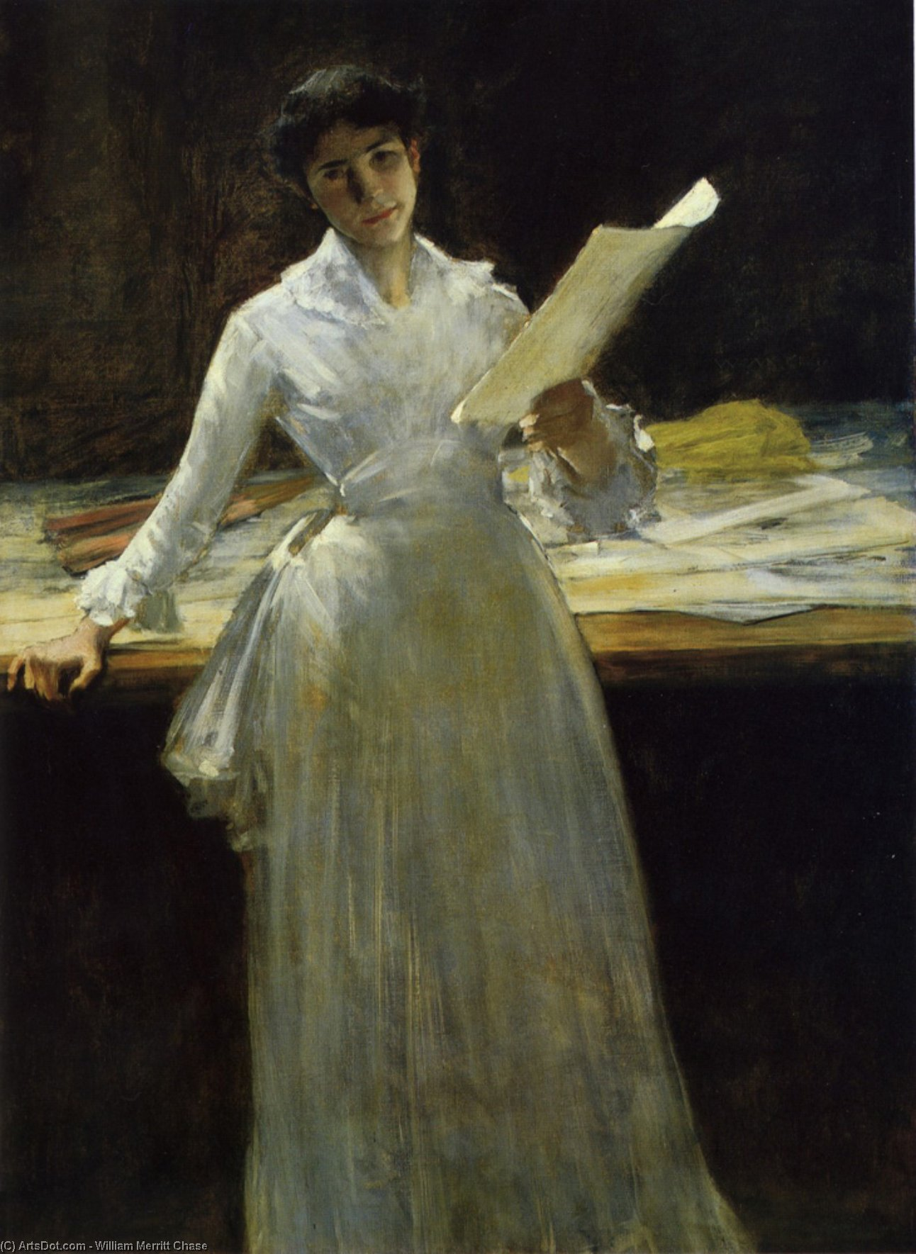 Memories, Oil On Canvas by William Merritt Chase (1849-1916, United States)