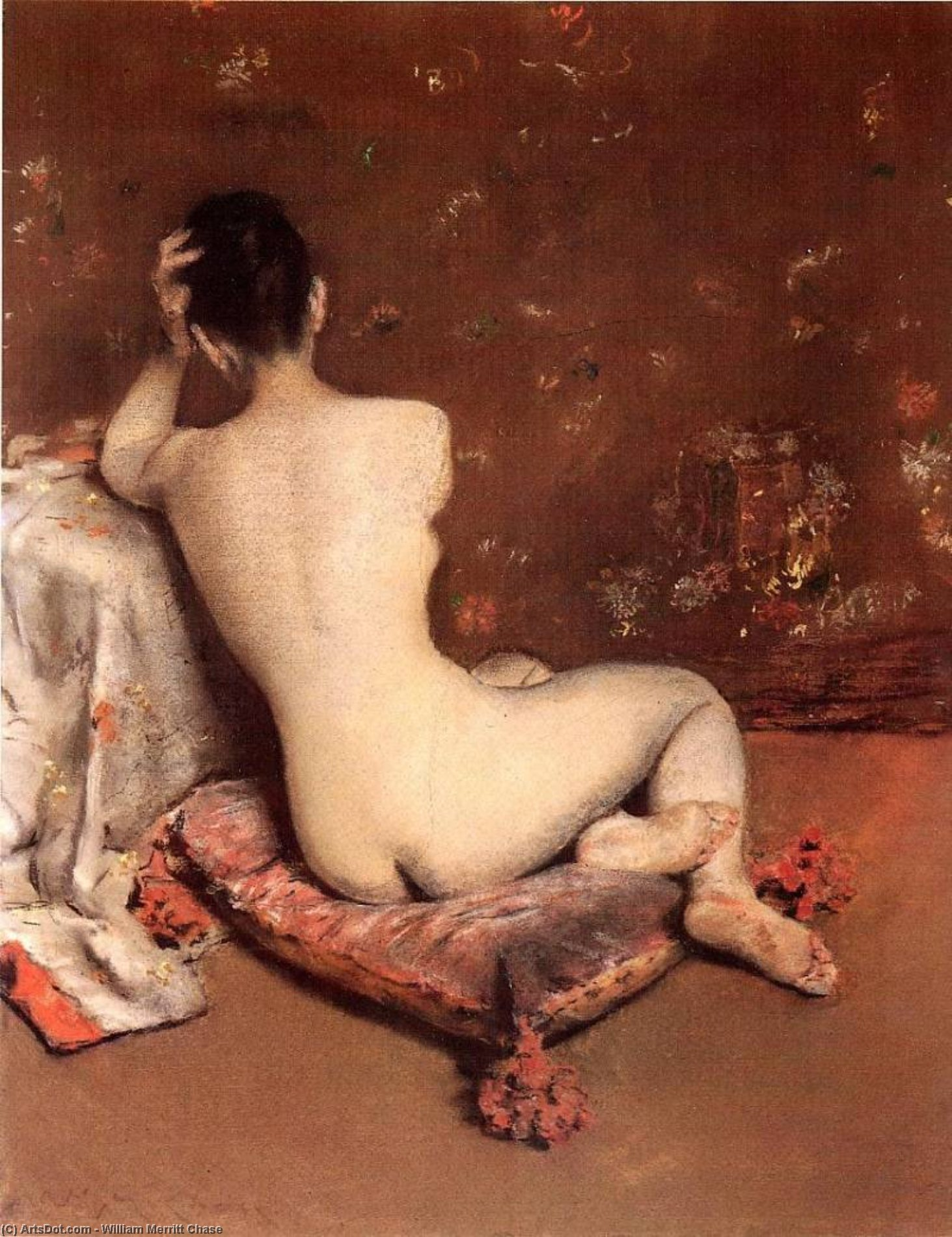 The Model, Pastel by William Merritt Chase (1849-1916, United States)
