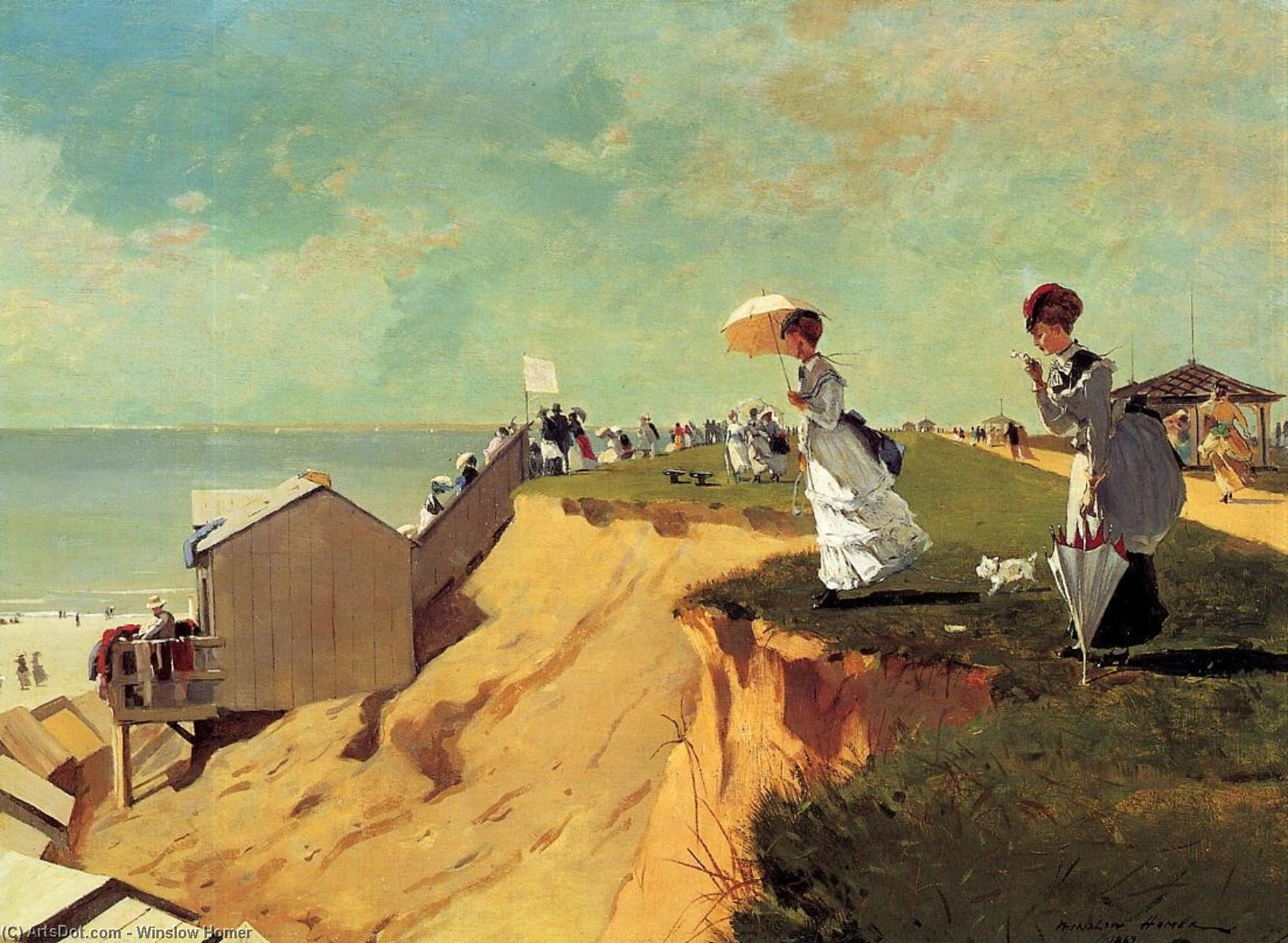 Long Branch, New Jersey, 1869 by Winslow Homer (1836-1910, United States) | Art Reproductions Winslow Homer | ArtsDot.com
