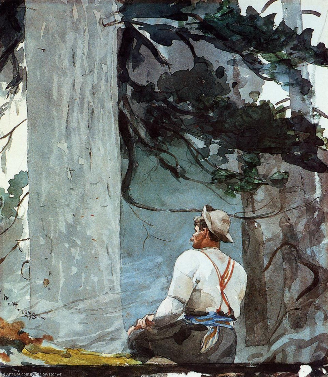 The Guide, 1895 by Winslow Homer (1836-1910, United States) | Art Reproductions Winslow Homer | ArtsDot.com