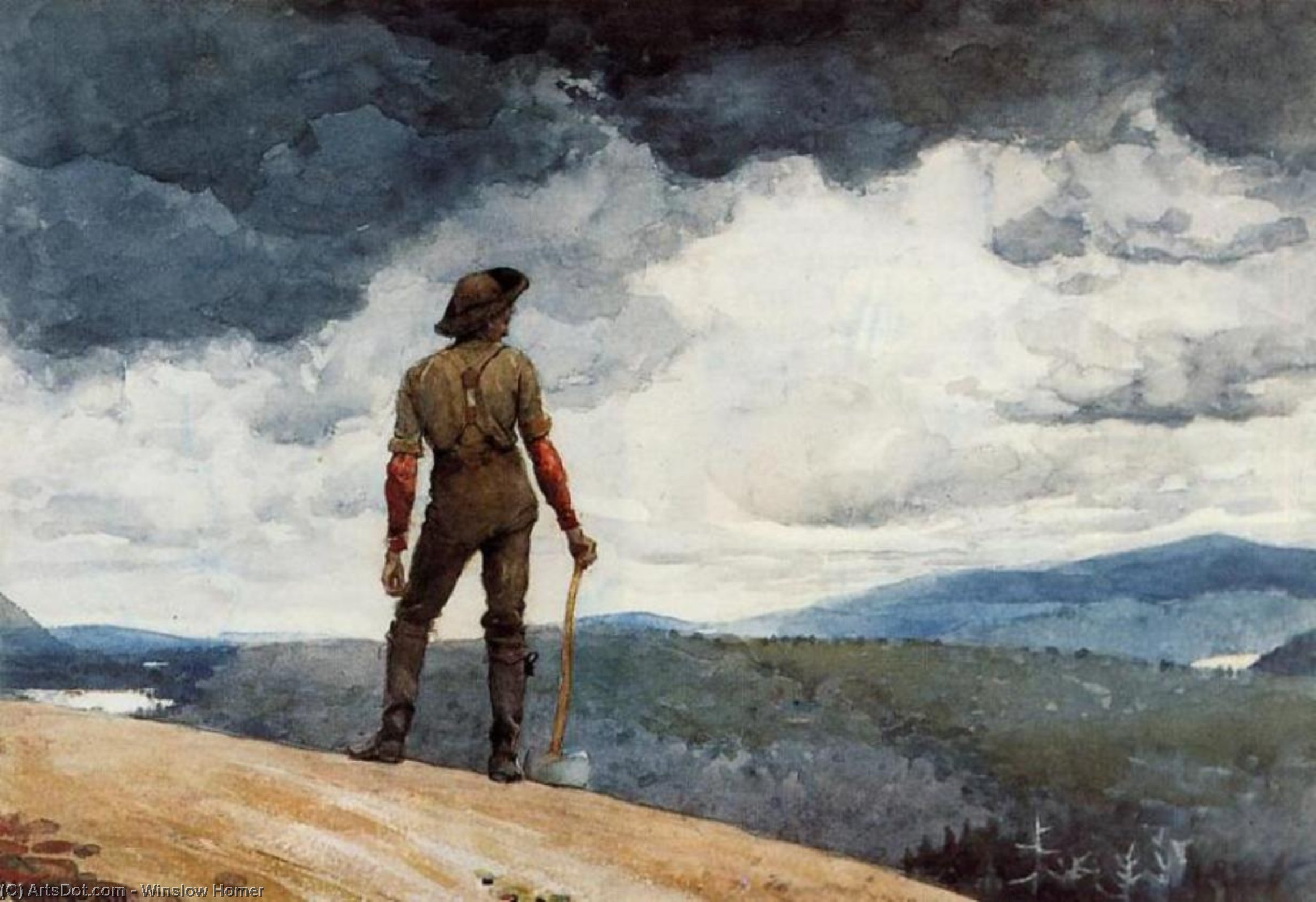 The woodcutter, 1891 by Winslow Homer (1836-1910, United States) | Oil Painting | ArtsDot.com