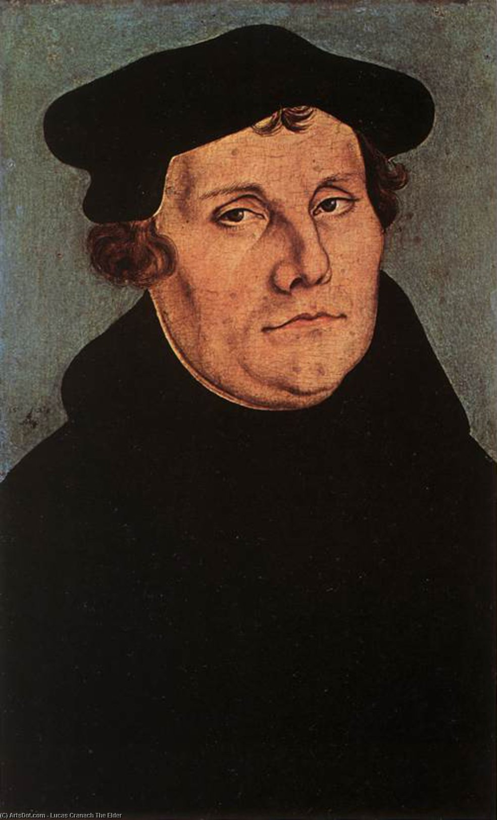 Portraits of Martin Luther, Oil by Lucas Cranach The Elder (1472-1553, Germany)