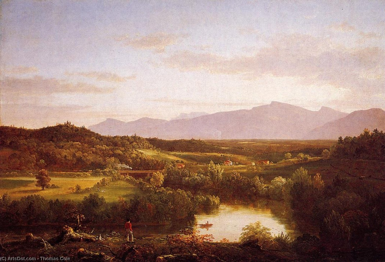 River in the Catskills, Oil On Canvas by Thomas Cole (1801-1848, United Kingdom)