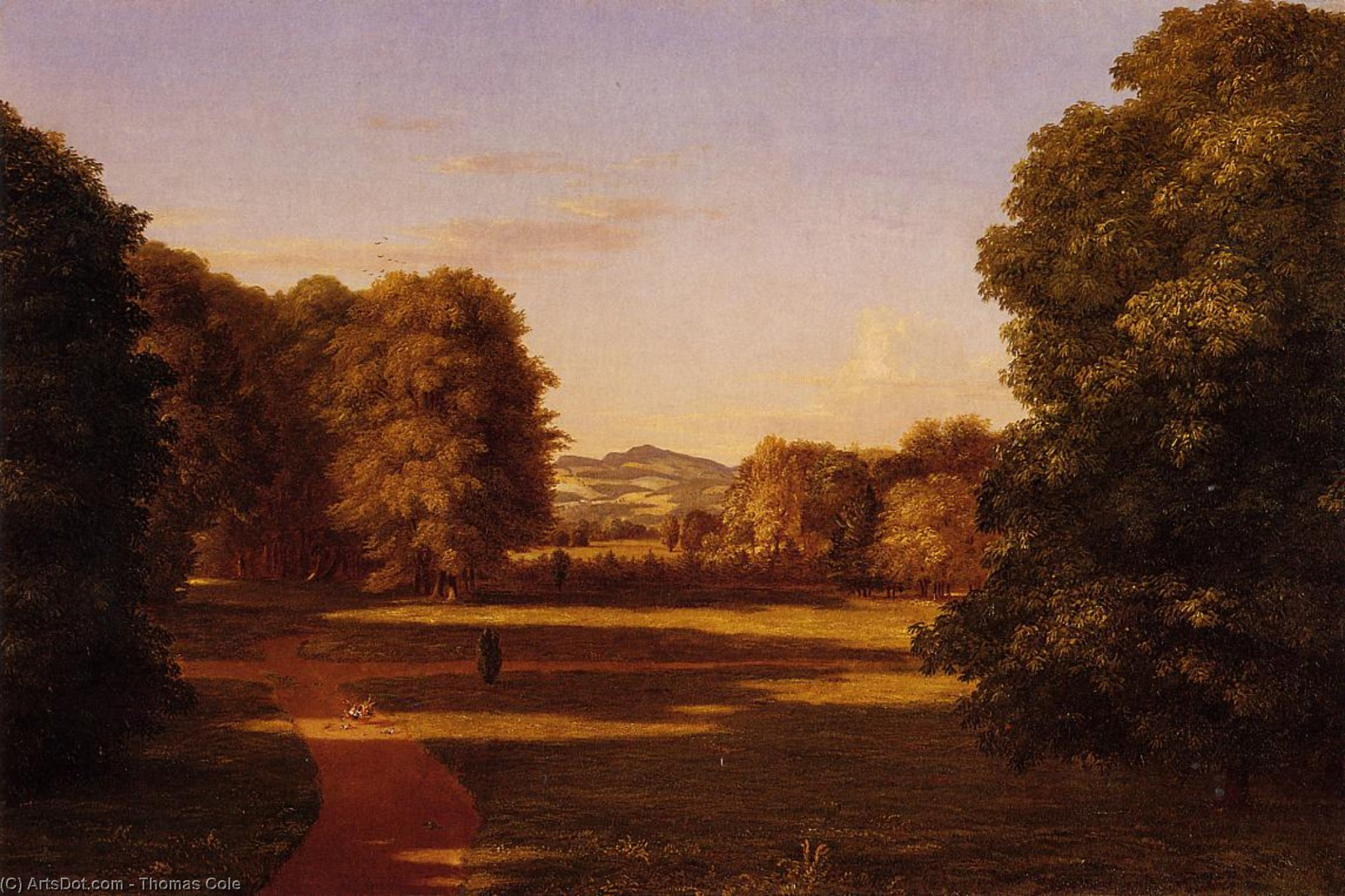 The Gardens of the Van Rensselaer Manor House, Oil On Canvas by Thomas Cole (1801-1848, United Kingdom)