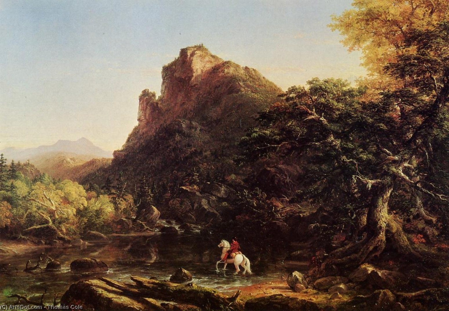 The Mountain Ford, Oil On Canvas by Thomas Cole (1801-1848, United Kingdom)