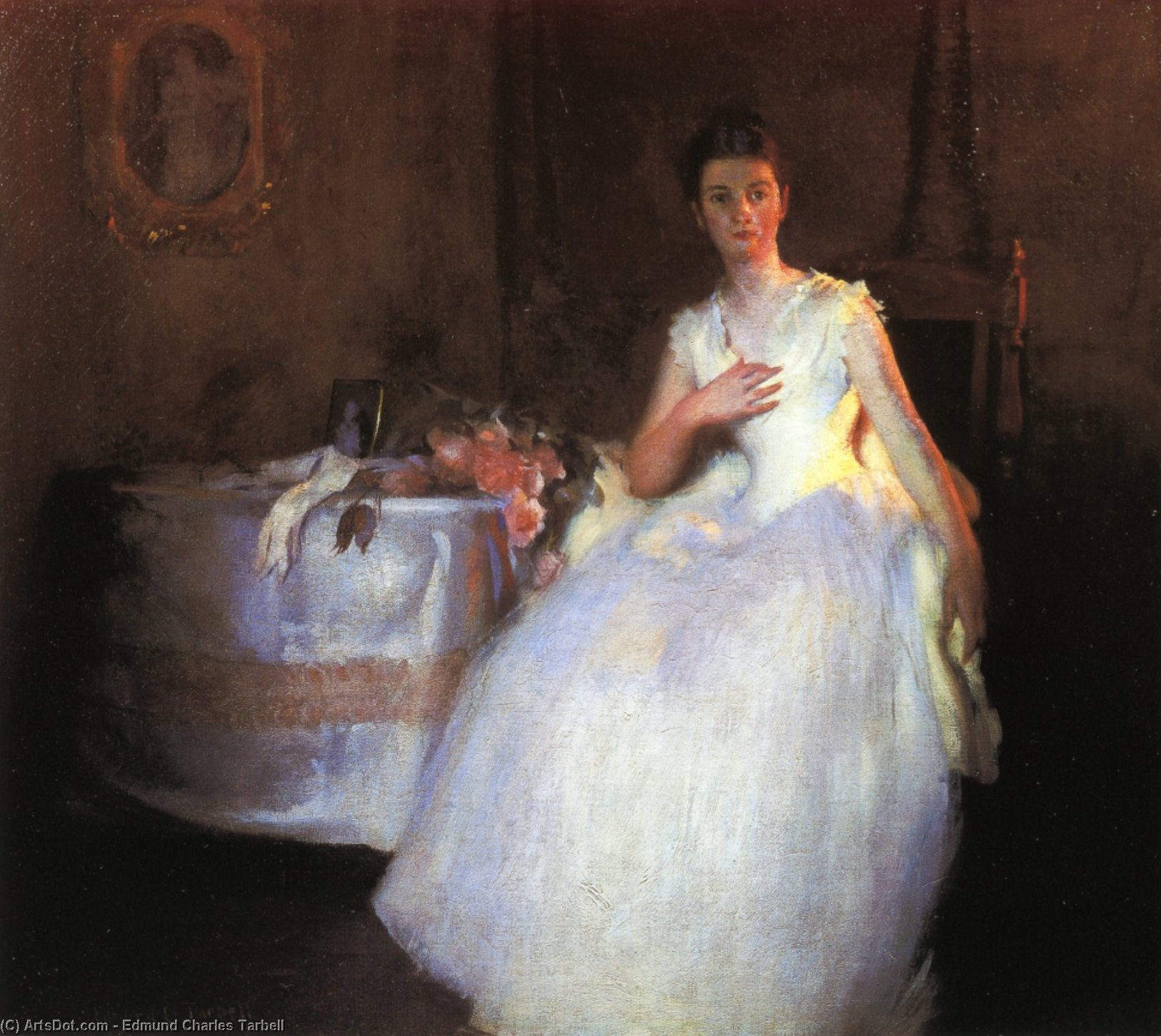 After the Ball, Oil by Edmund Charles Tarbell (1862-1938, United States)