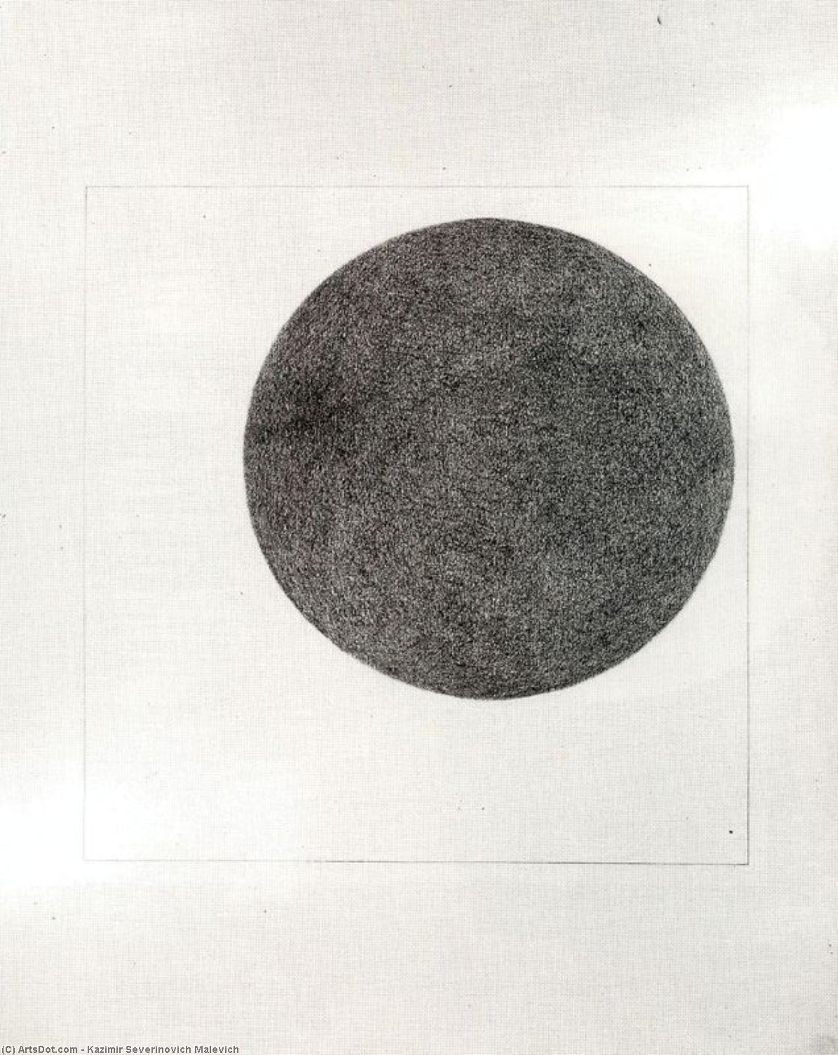 Circle, Watercolour by Kazimir Severinovich Malevich (1878-1935, Ukraine)