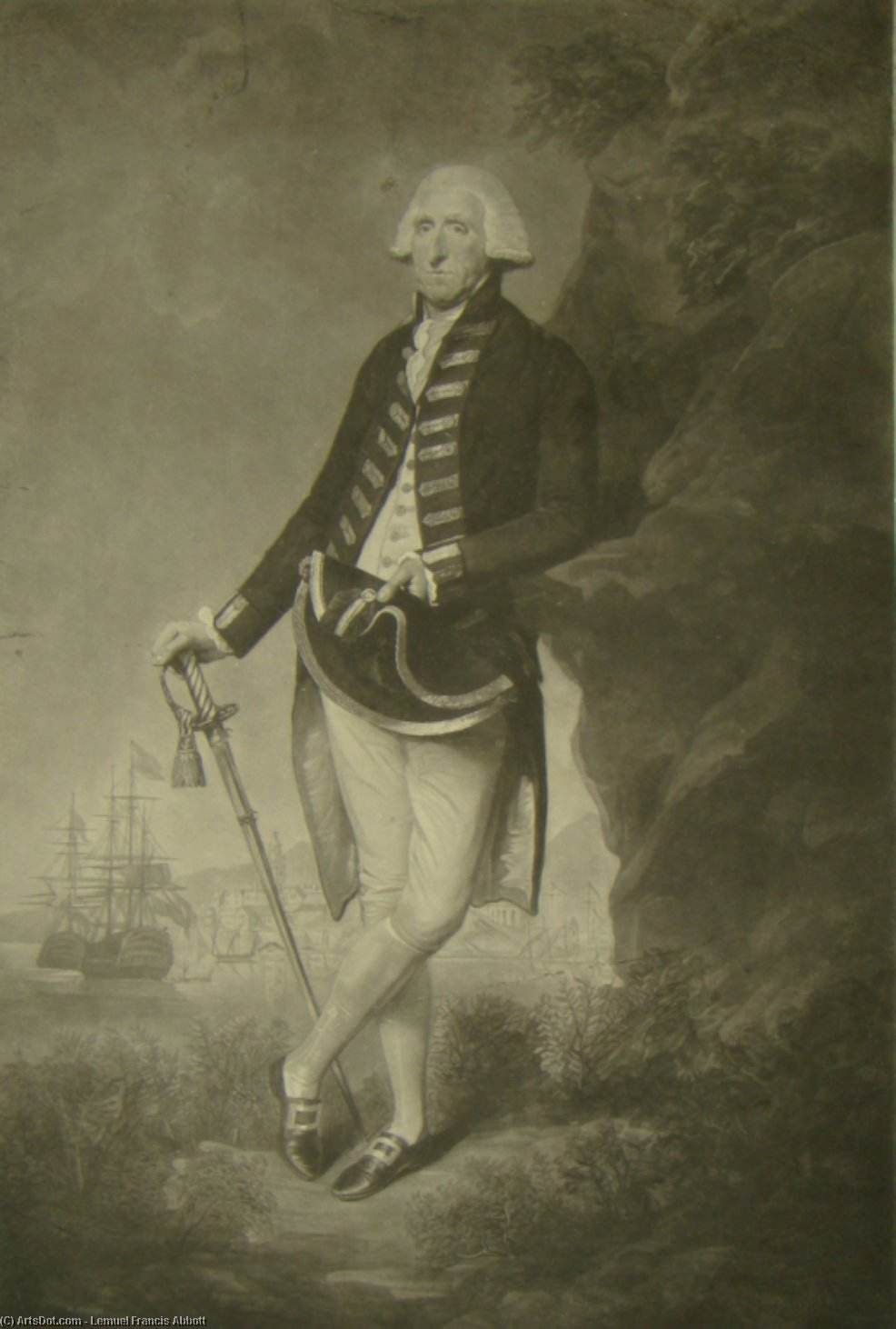 The Rt Hon Lord Hood, Admiral of the Blue and Commander in Chief of His Majesty`s fleet in the Mediterranean by Lemuel Francis Abbott (1760-1802, United Kingdom) | Art Reproductions Lemuel Francis Abbott | ArtsDot.com