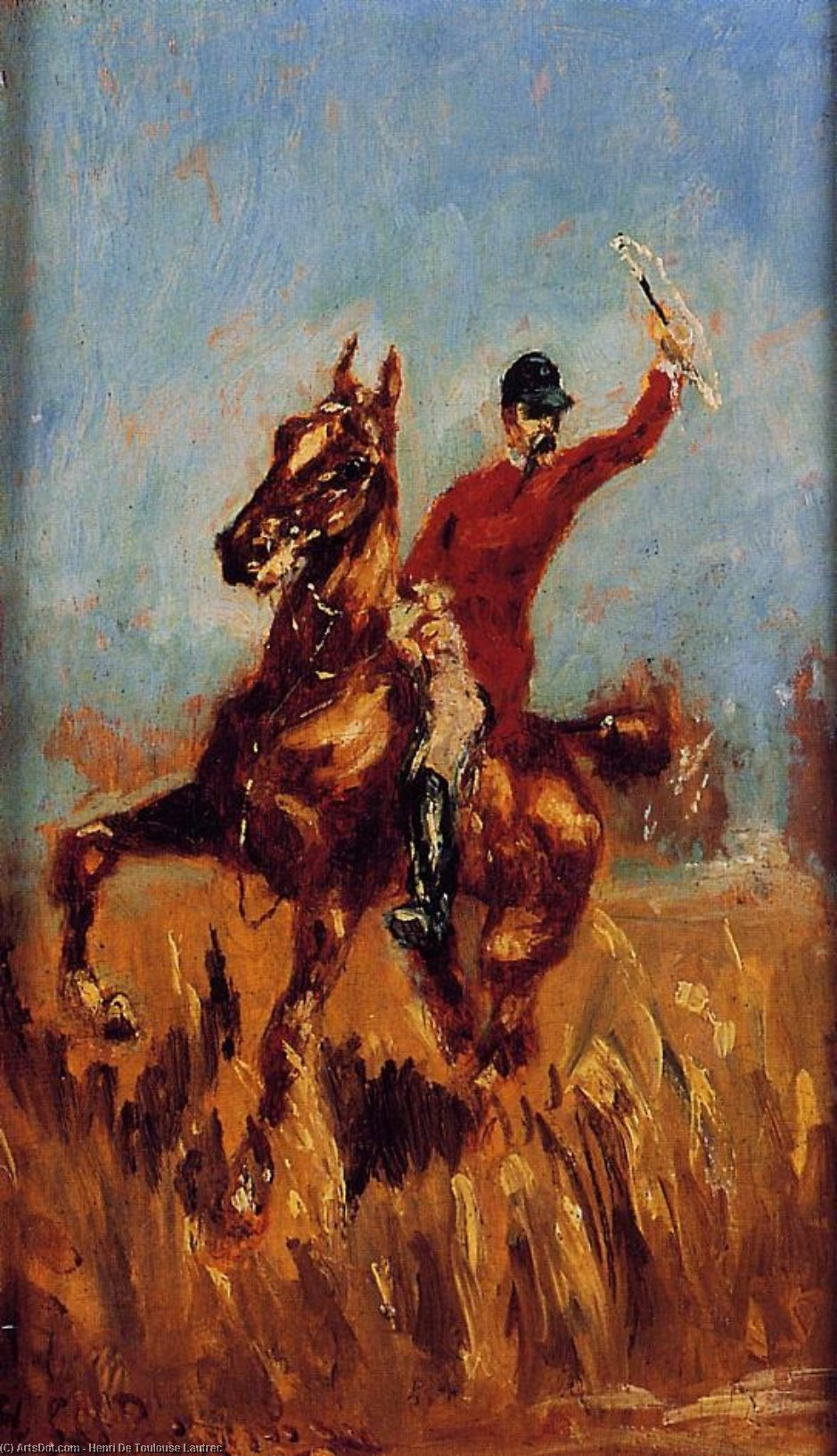 Master of the Hunt, Oil On Panel by Henri De Toulouse Lautrec (1864-1901, France)