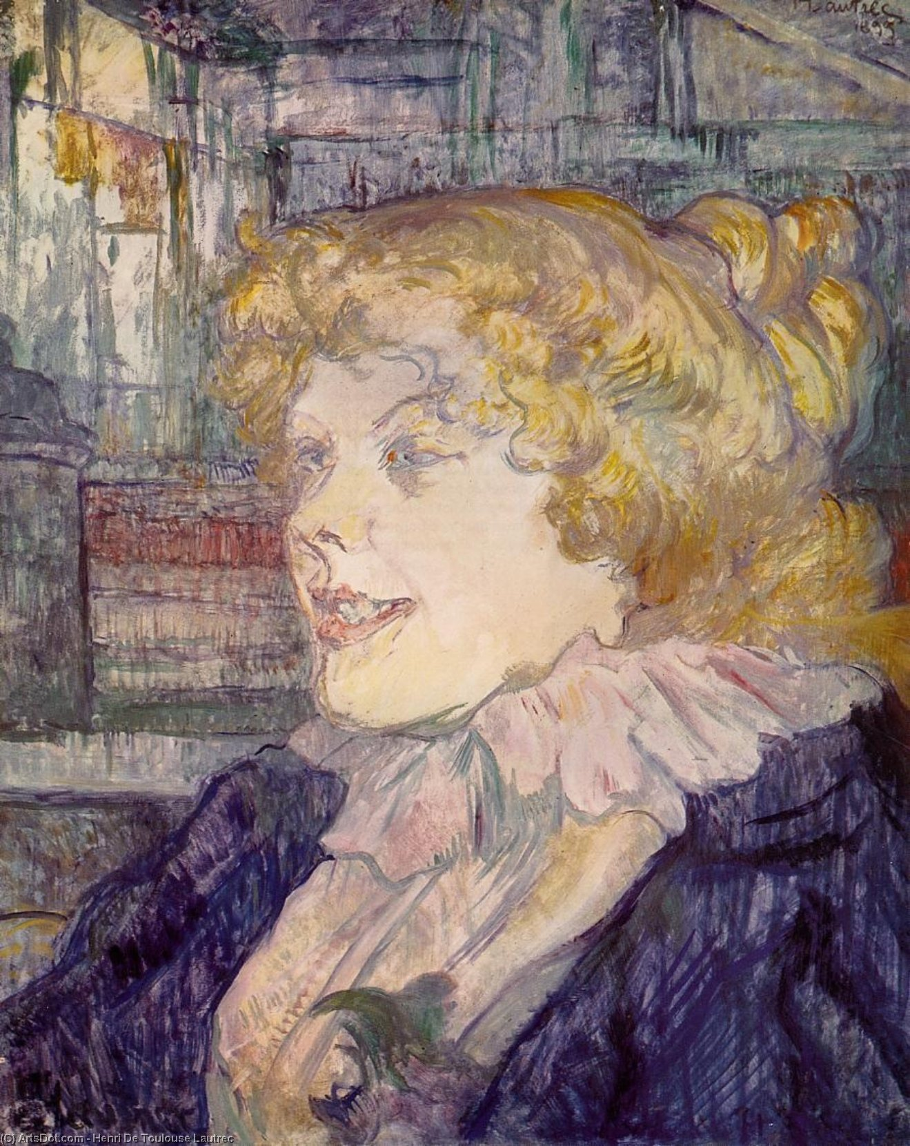 The English Girl from the 'Star', Le Havre, Oil On Panel by Henri De Toulouse Lautrec (1864-1901, France)