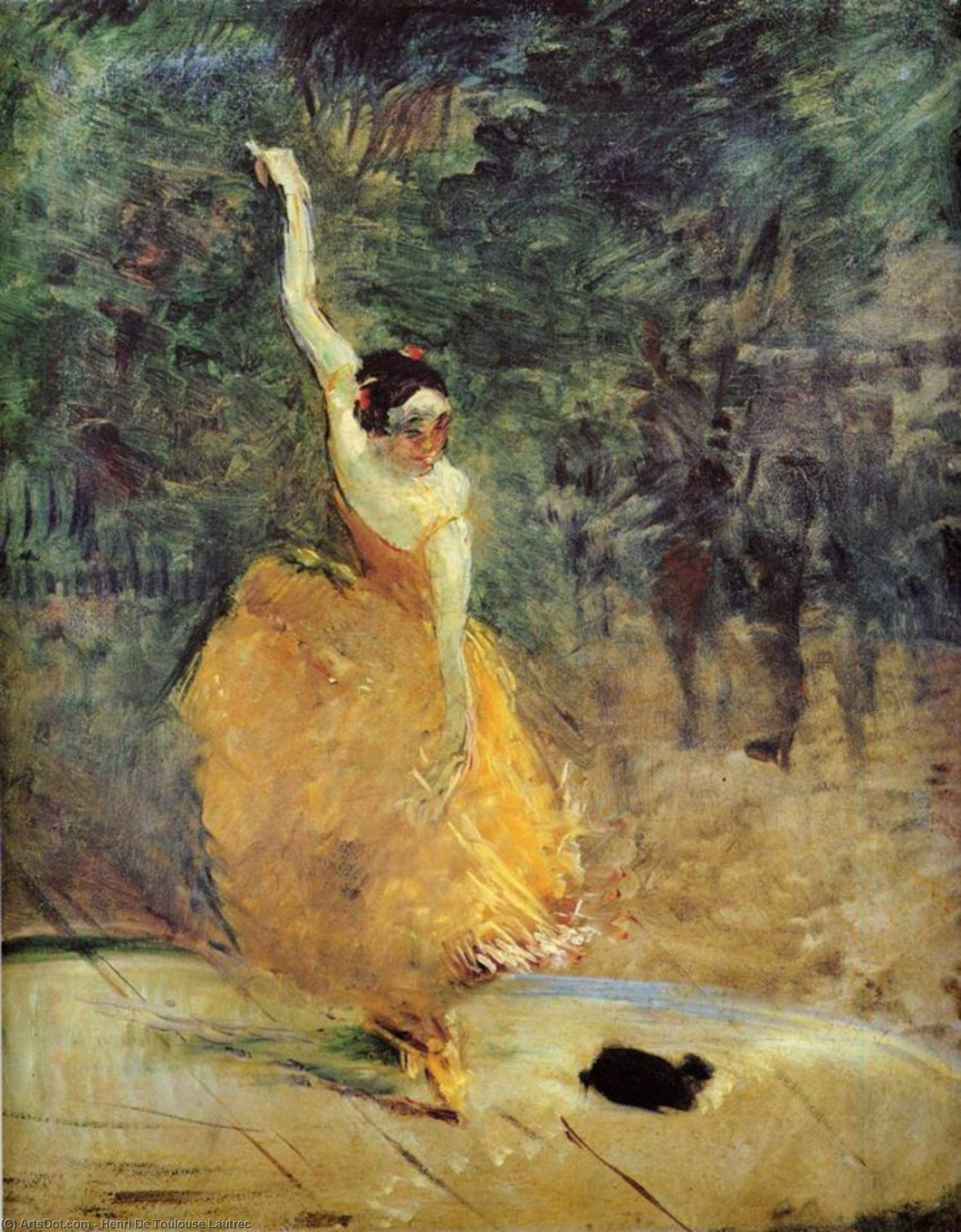 The Spanish Dancer, Oil On Canvas by Henri De Toulouse Lautrec (1864-1901, France)