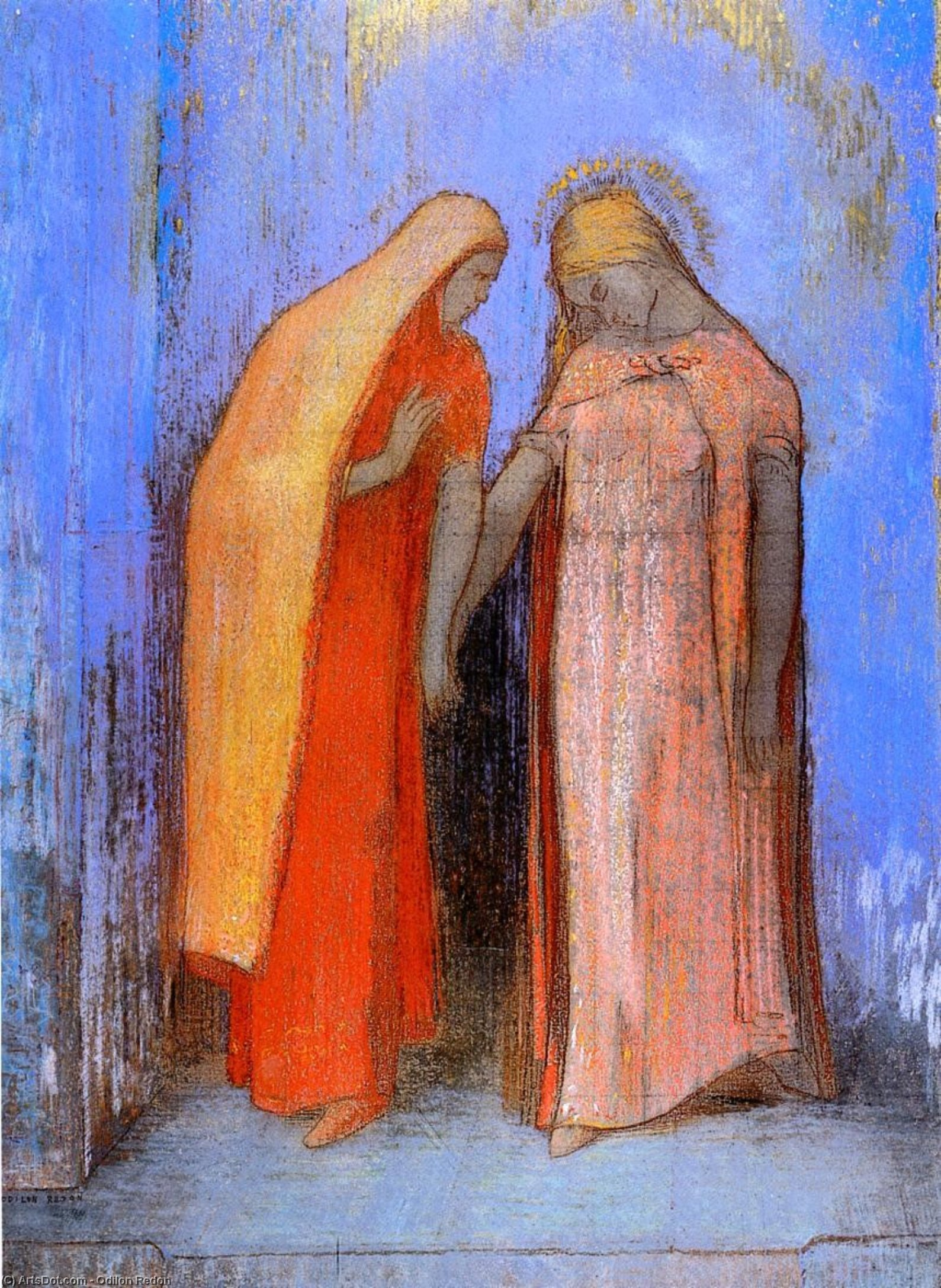 Buy Museum Art Reproductions : Mystical Conversation 1 by Odilon Redon (1840-1916, France) | ArtsDot.com