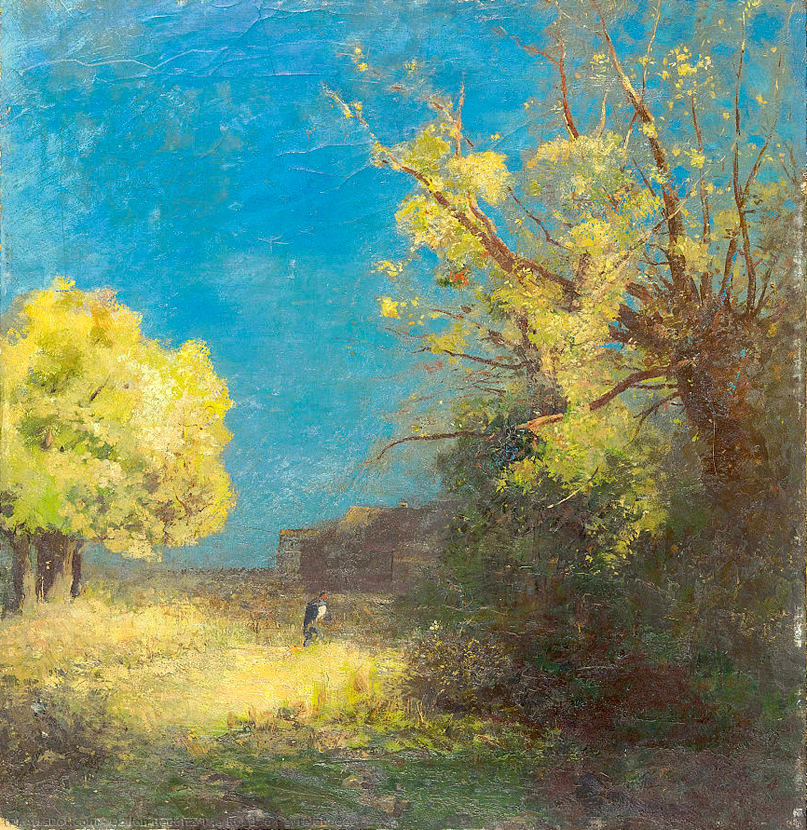 The Road to Peyrelebade by Odilon Redon (1840-1916, France) | Painting Copy | ArtsDot.com