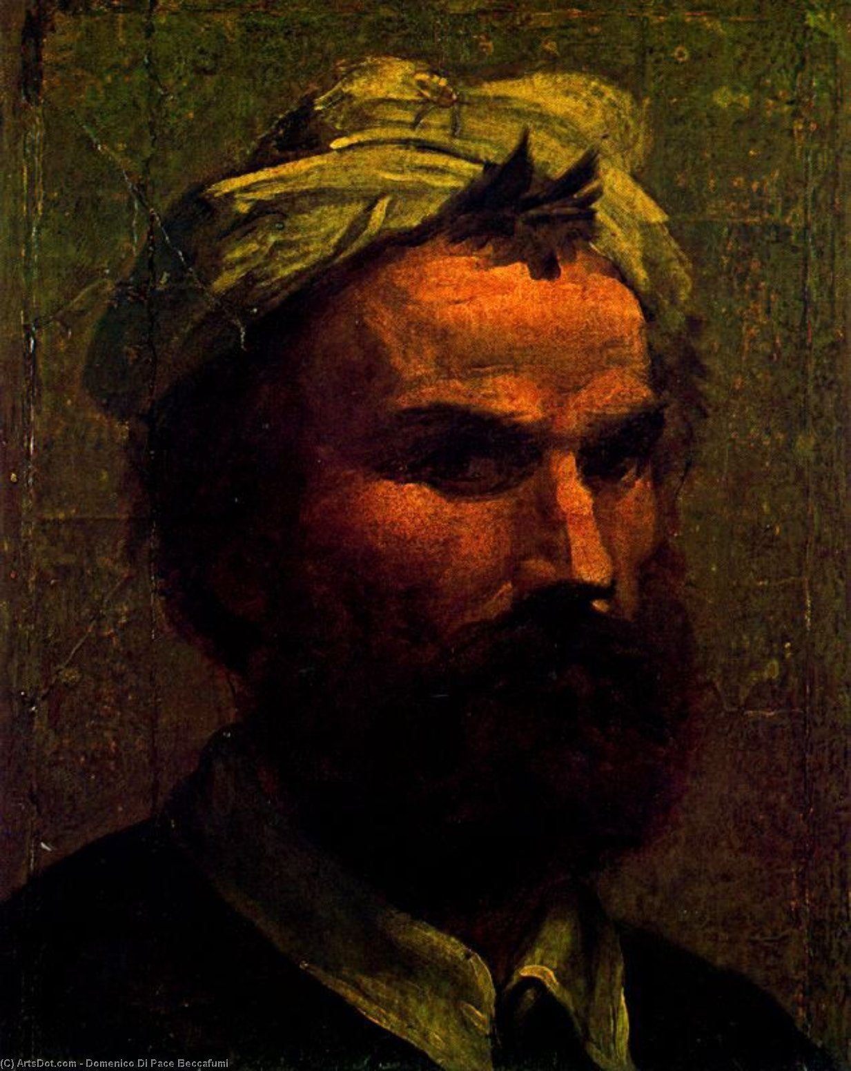 Self-portrait, Drawing by Domenico Di Pace Beccafumi (1486-1551, Italy)