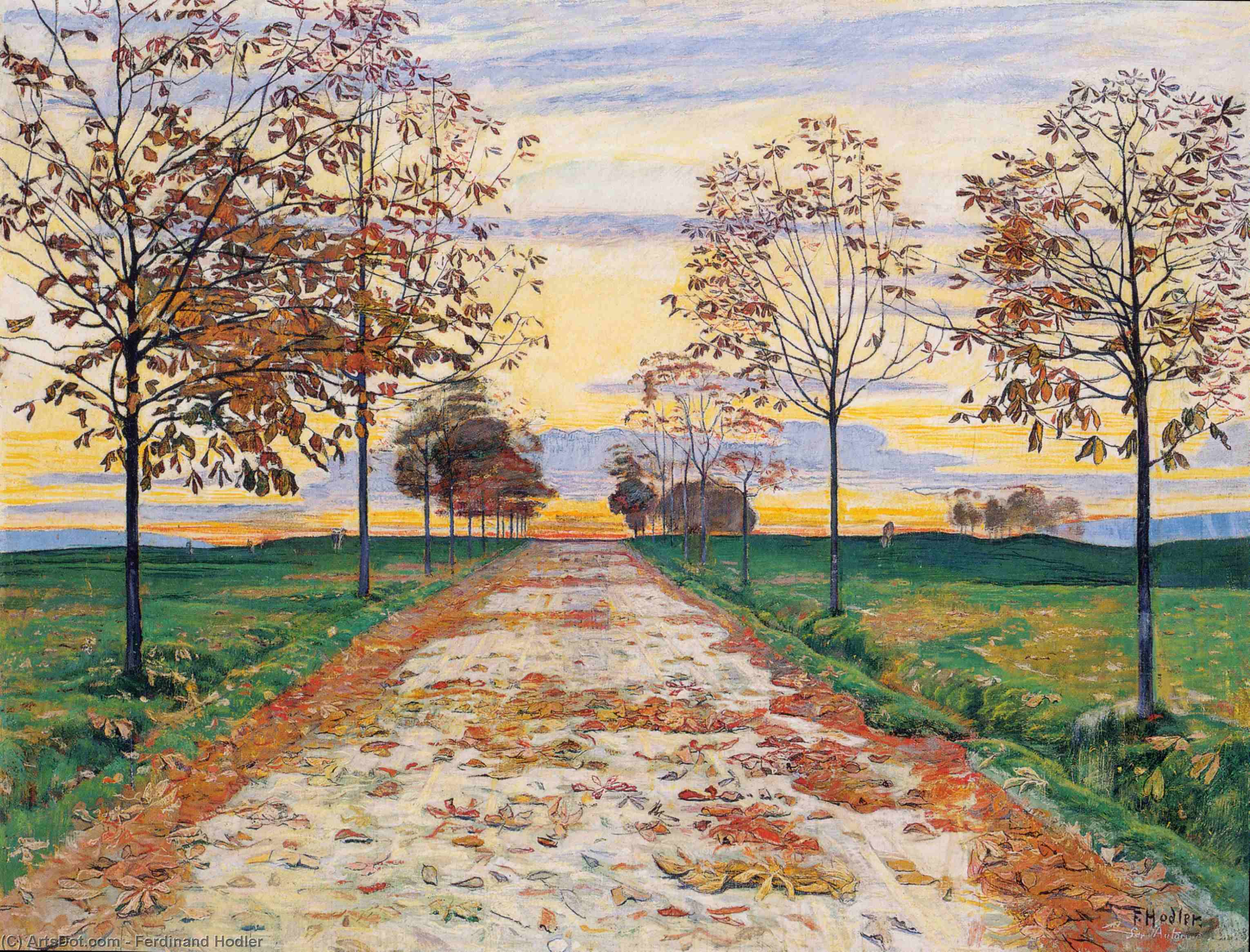 Order Museum Quality Copies | Autumn Evening, 1892 by Ferdinand Hodler (1853-1918, Switzerland) | ArtsDot.com