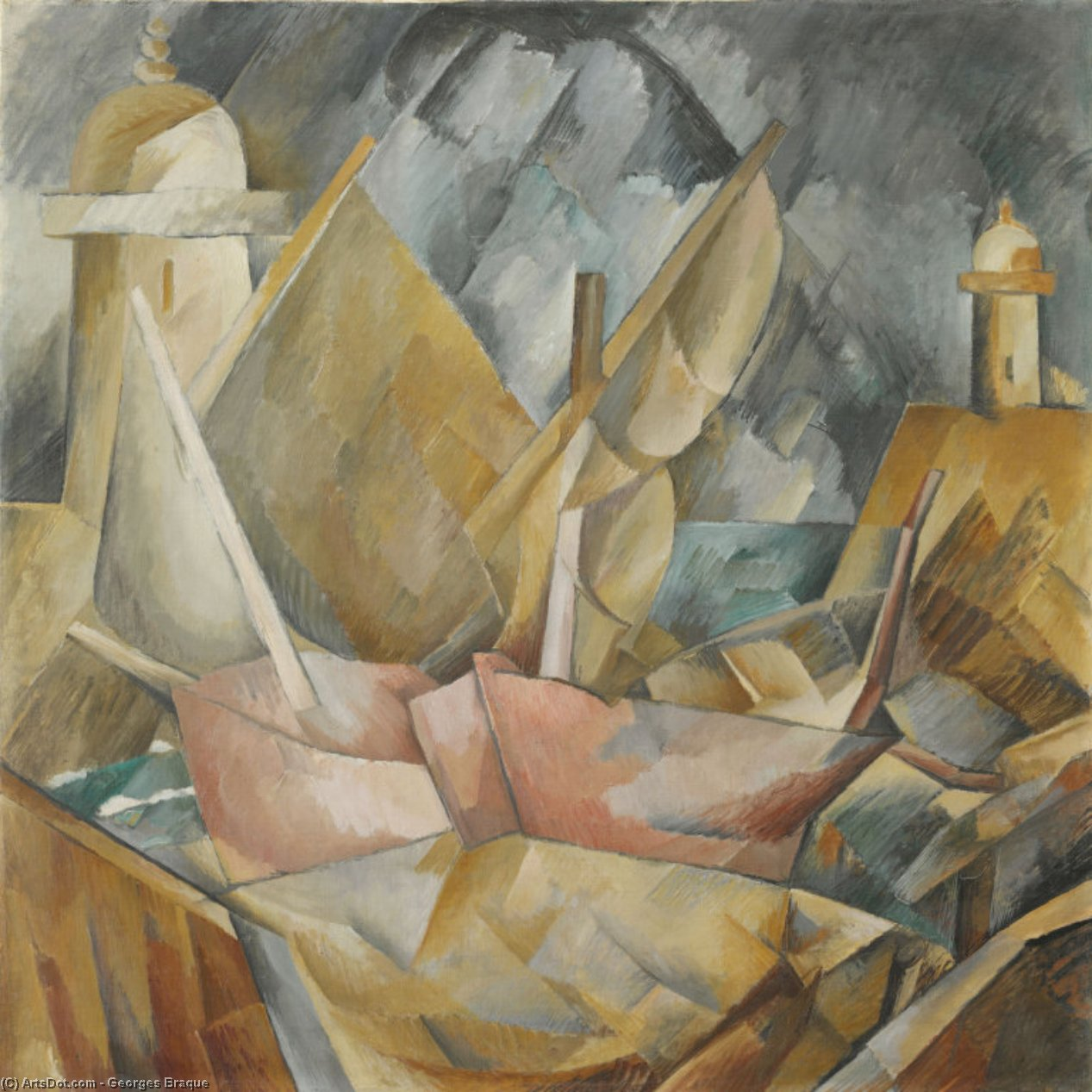 Harbor in Normandy, 1909 by Georges Braque (1882-1963, France) | Museum Art Reproductions | ArtsDot.com