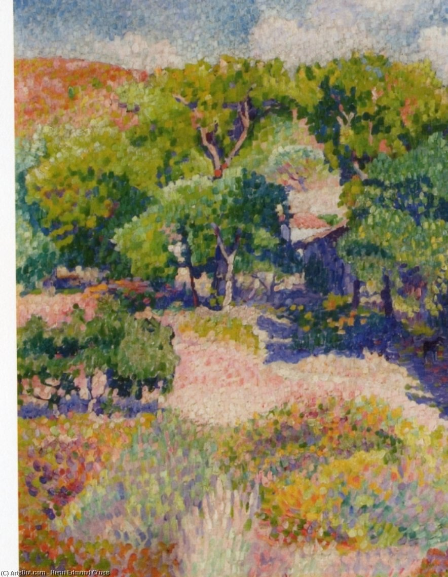 Cypresses, Oil On Canvas by Henri Edmond Cross (1856-1910, France)