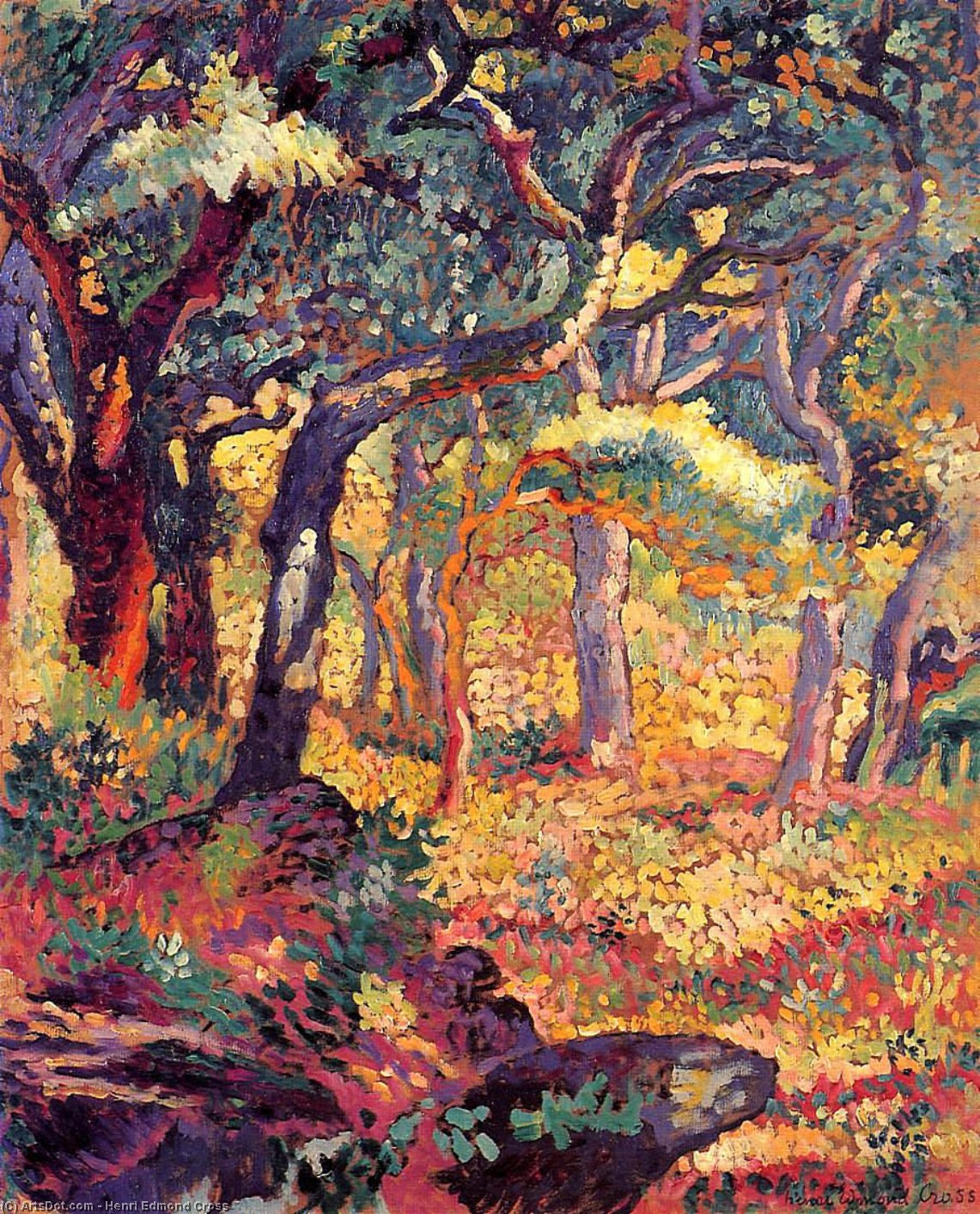 Study for 'The Clearing'' by Henri Edmond Cross (1856-1910, France)