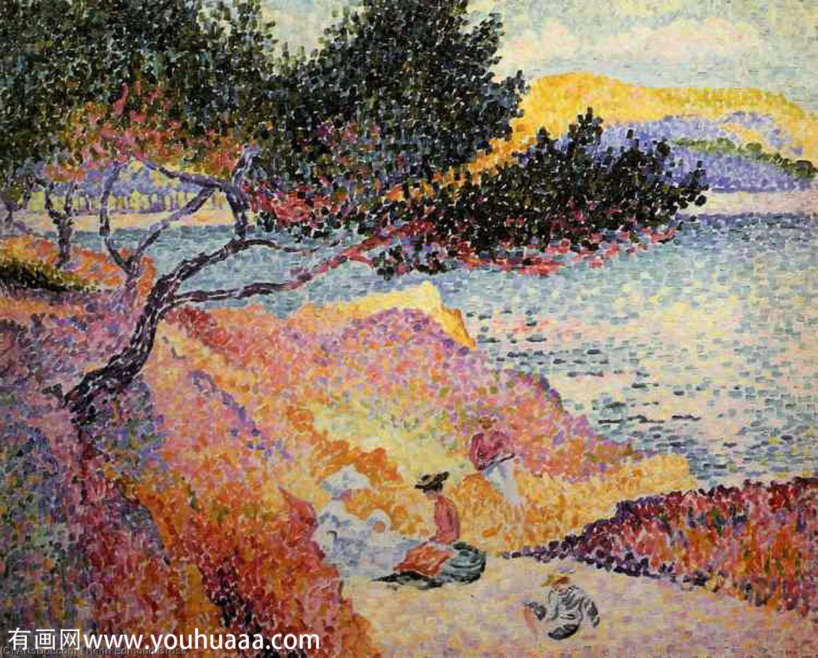 The Bay at Cavaliere by Henri Edmond Cross (1856-1910, France)