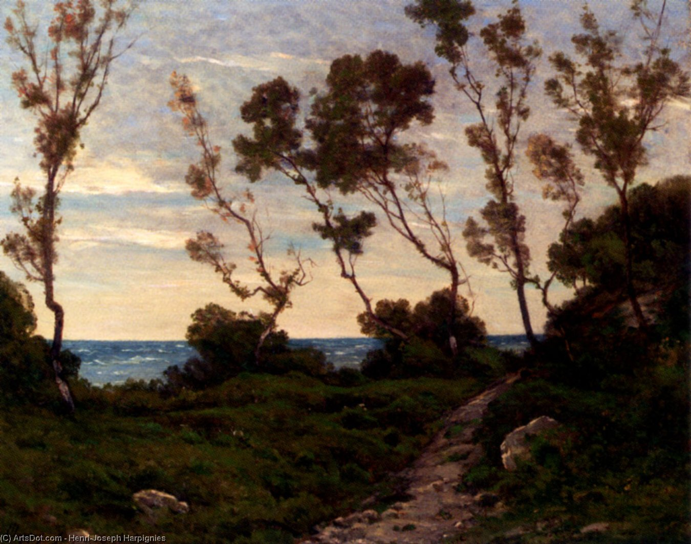 Path To The Sea by Henri-Joseph Harpignies (1819-1916, France)