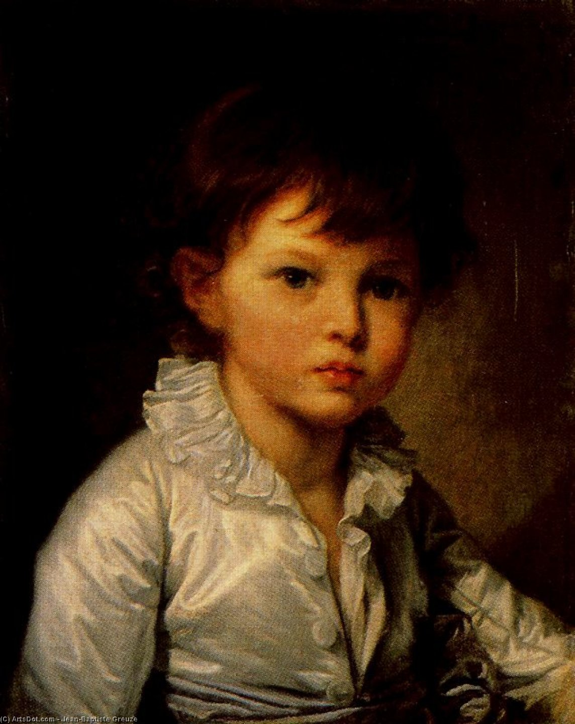 Order Museum Quality Copies | Earl P. A. Stroganov as a child by Jean-Baptiste Greuze (1725-1805, France) | ArtsDot.com