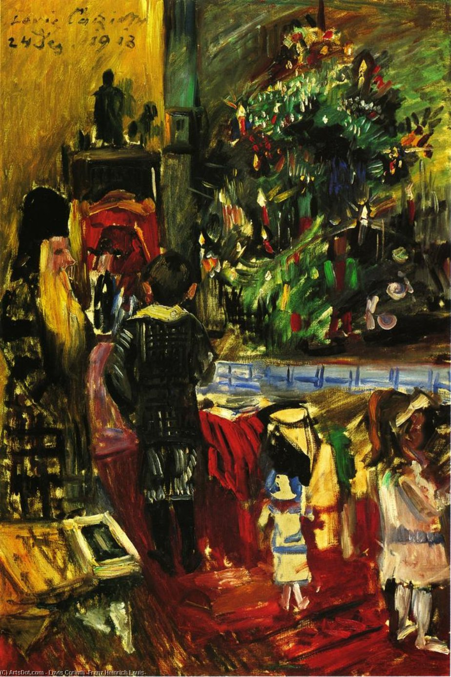 Distributing Christmas Presents, Oil On Canvas by Lovis Corinth (Franz Heinrich Louis) (1858-1925, Netherlands)