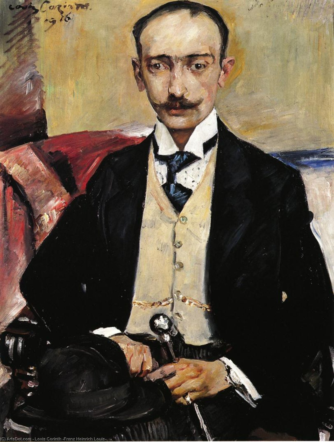 Portrait of Dr. Karl Schwarz, Oil On Canvas by Lovis Corinth (Franz Heinrich Louis) (1858-1925, Netherlands)