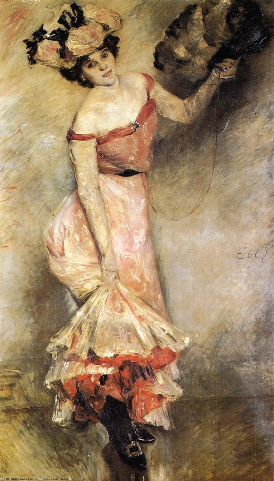 Portrait of Elly, Oil On Canvas by Lovis Corinth (Franz Heinrich Louis) (1858-1925, Netherlands)