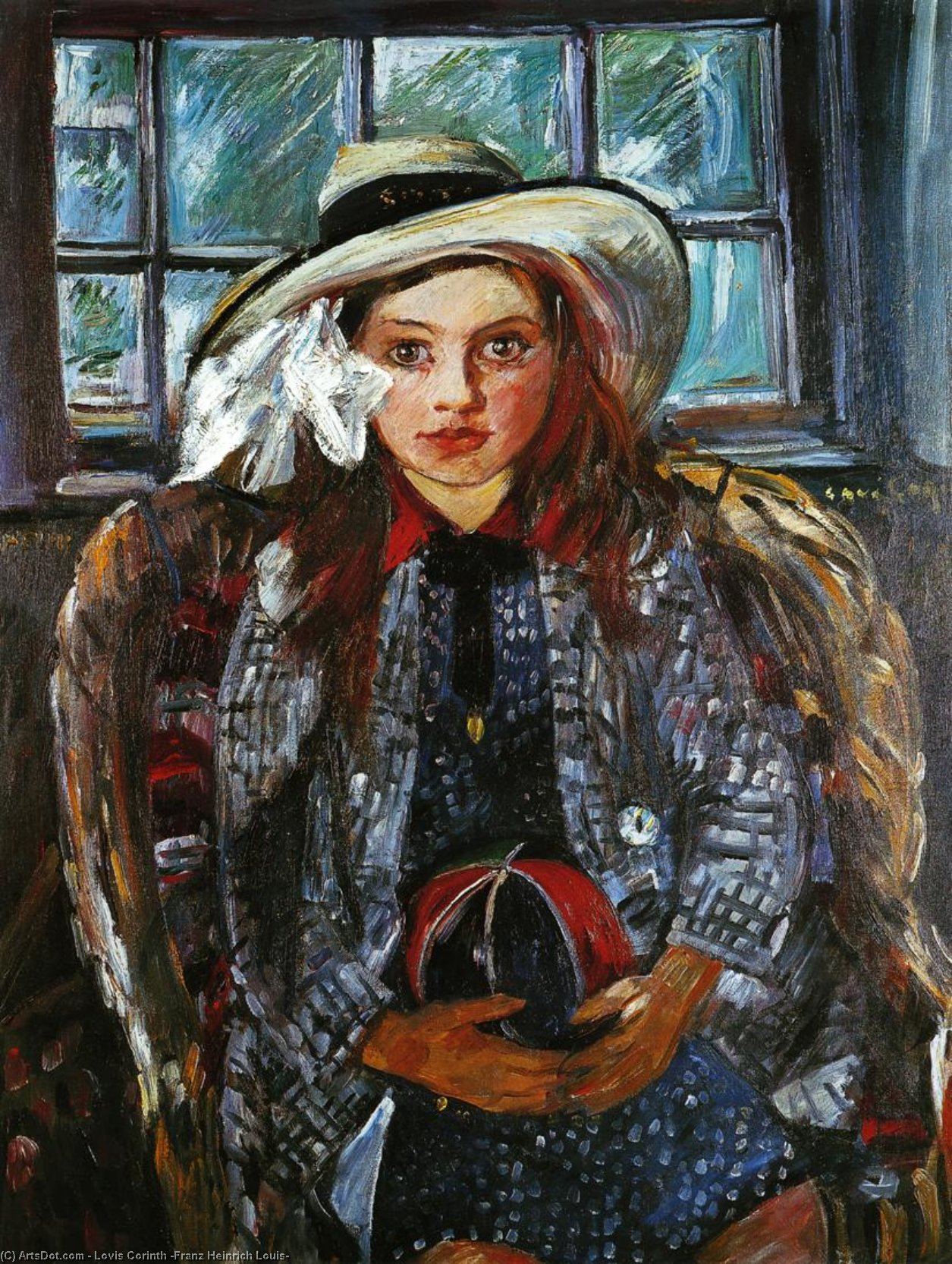 Wilhelmine with a Ball, Oil On Canvas by Lovis Corinth (Franz Heinrich Louis) (1858-1925, Netherlands)