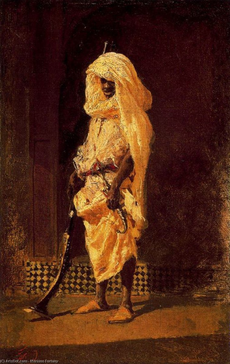 Moroccan Soldier by Mariano Fortuny (1871-1949, Spain)