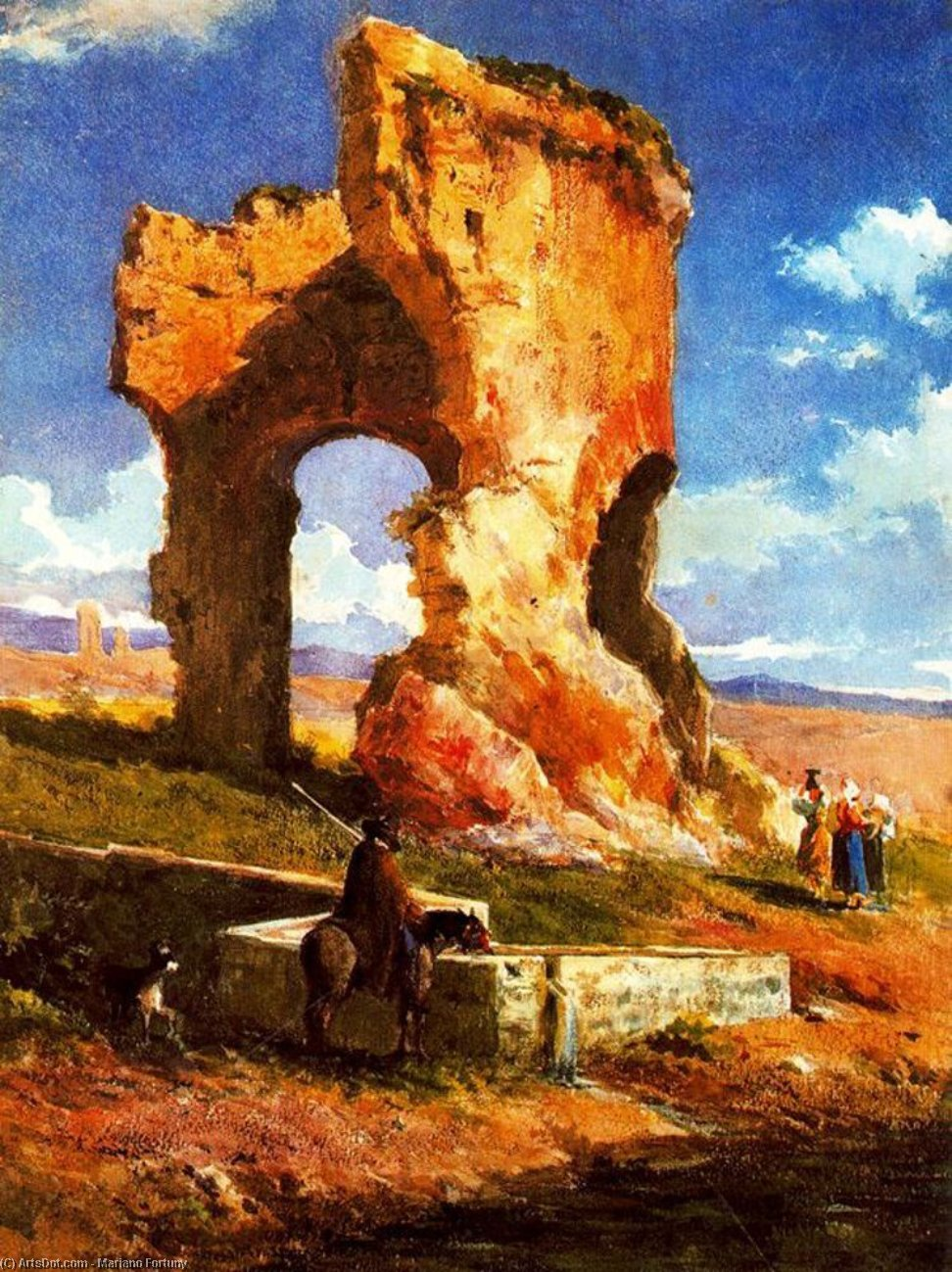 Roman Ruins by Mariano Fortuny (1871-1949, Spain)