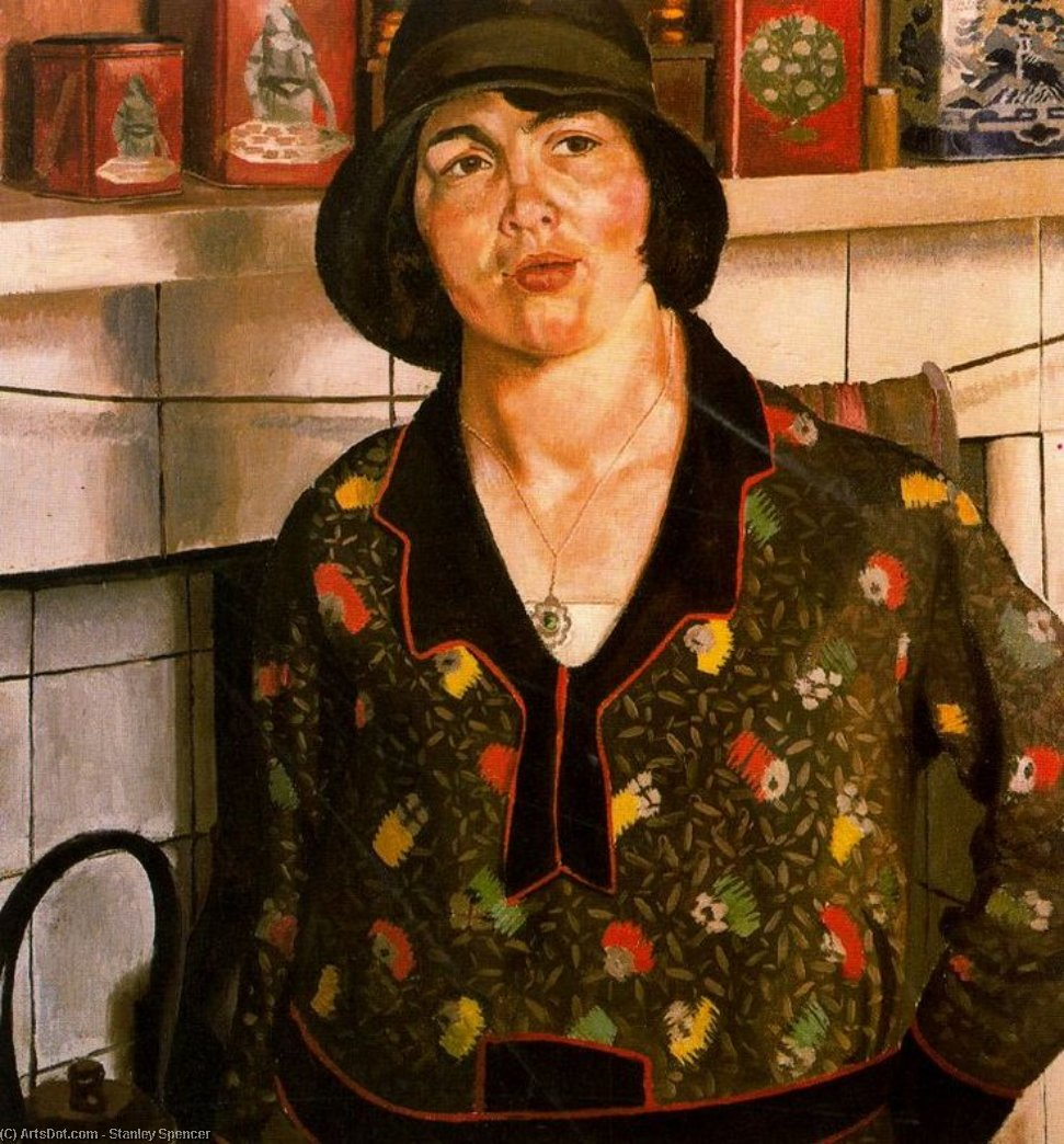 Country girl. Elise by Stanley Spencer (1891-1959, United Kingdom)
