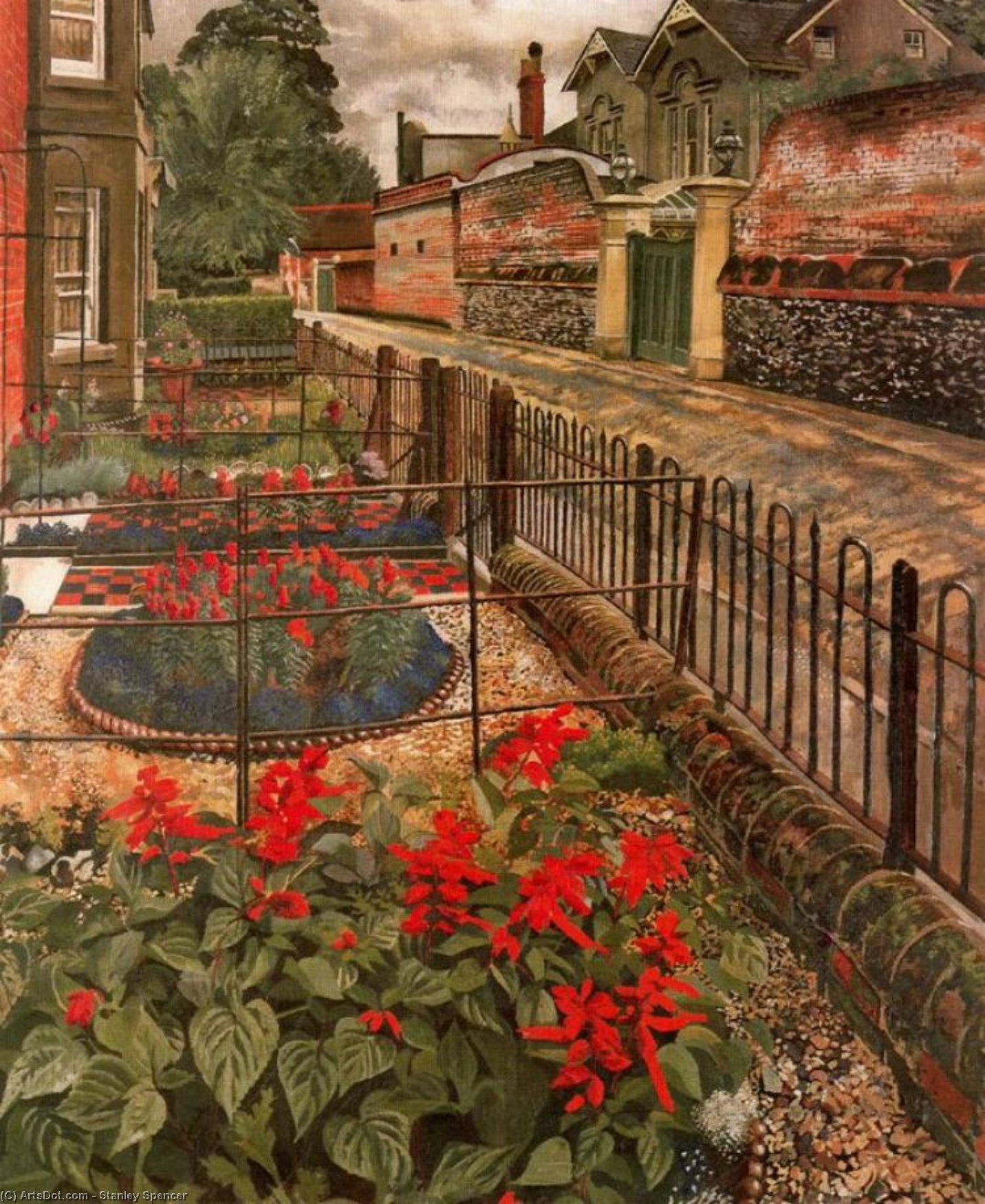 Gardens in the Pound. Cookham by Stanley Spencer (1891-1959, United Kingdom)