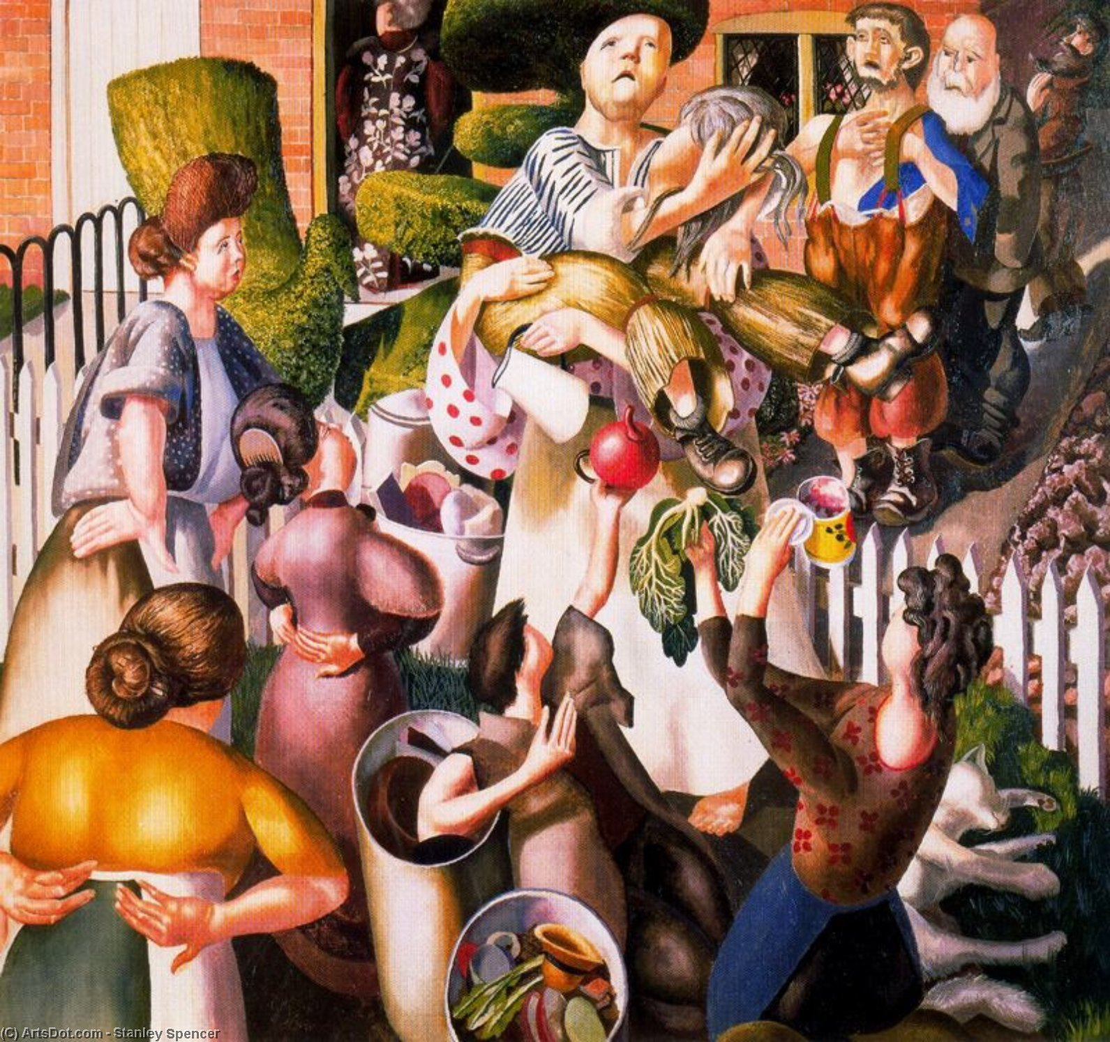 The Dustman or the lovers by Stanley Spencer (1891-1959, United Kingdom)