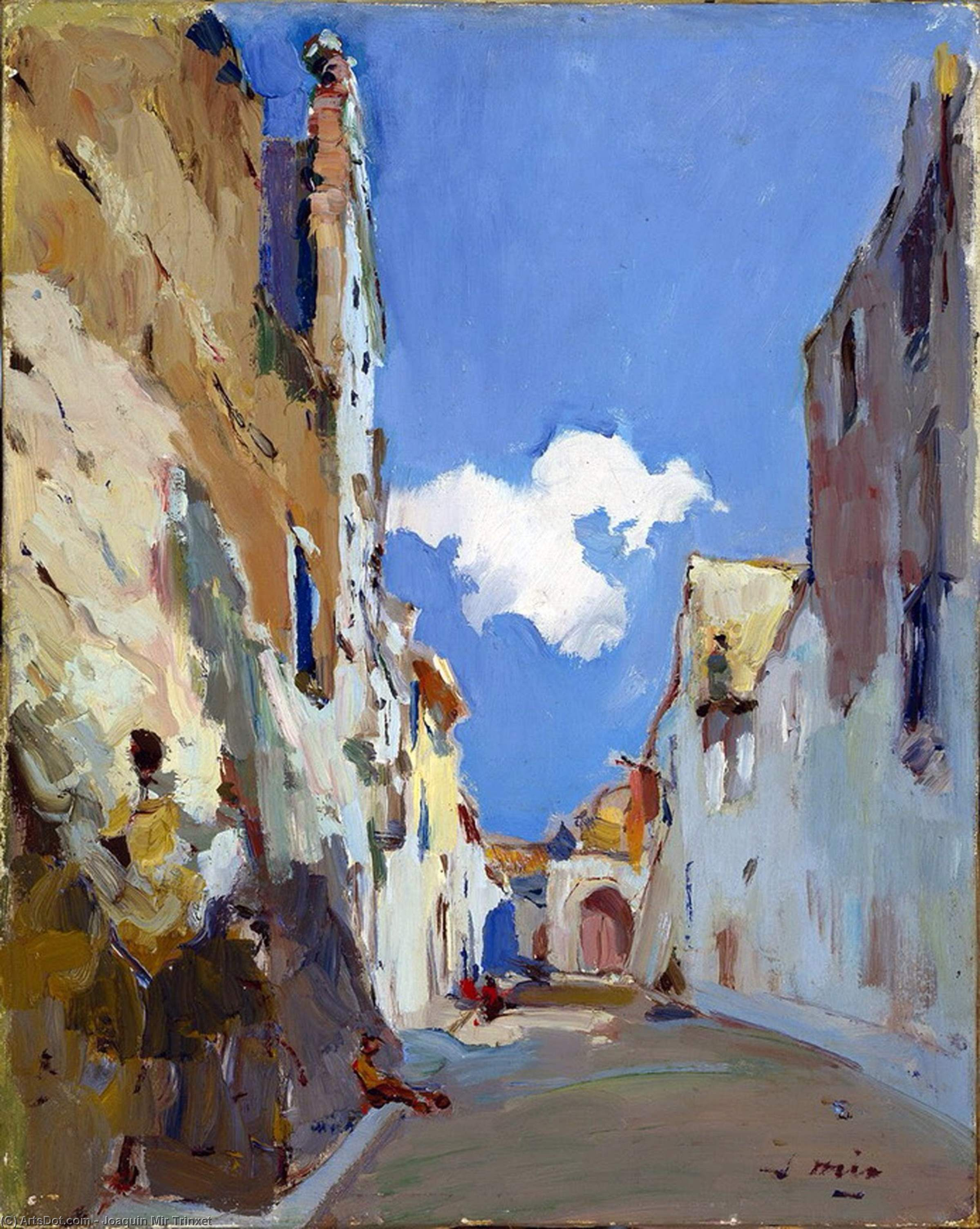 Carrer dels Terrissaires by Joaquin Mir Trinxet (1873-1940, Spain)