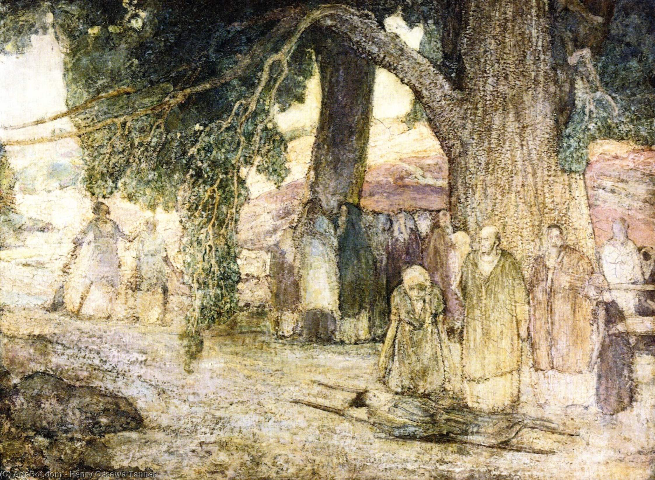 Disciples Healing the Sick, Oil On Panel by Henry Ossawa Tanner (1859-1937, United States)