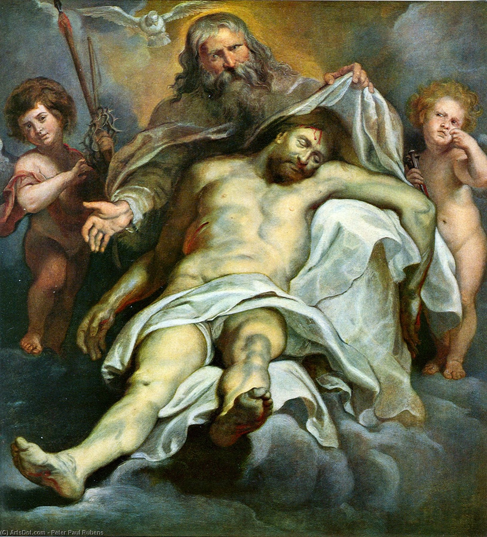 Buy Museum Art Reproductions | Holy Trinity by Peter Paul Rubens (1577-1640, Italy) | ArtsDot.com