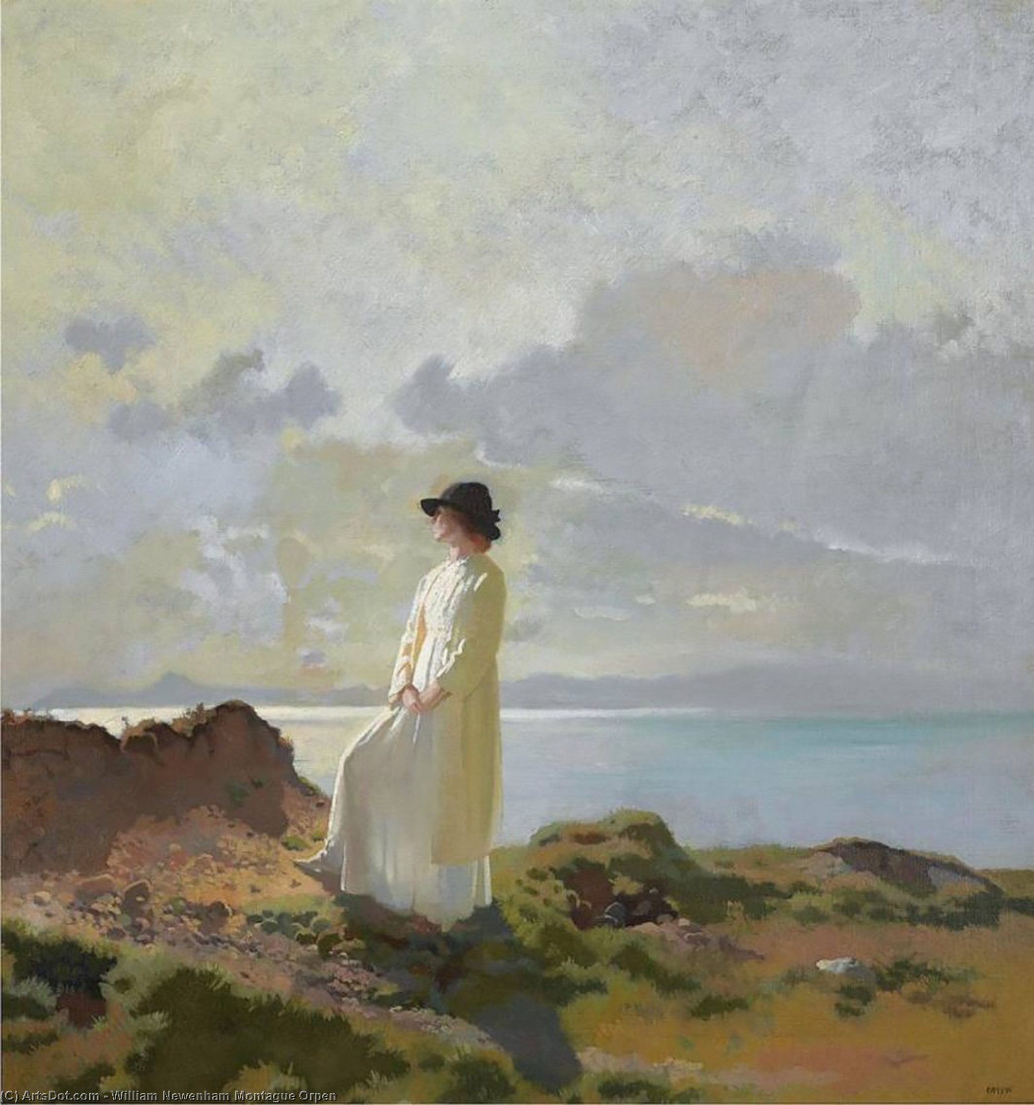 In the cliffs, Dublin bay, morning, Oil On Canvas by William Newenham Montague Orpen (1878-1931, Ireland)