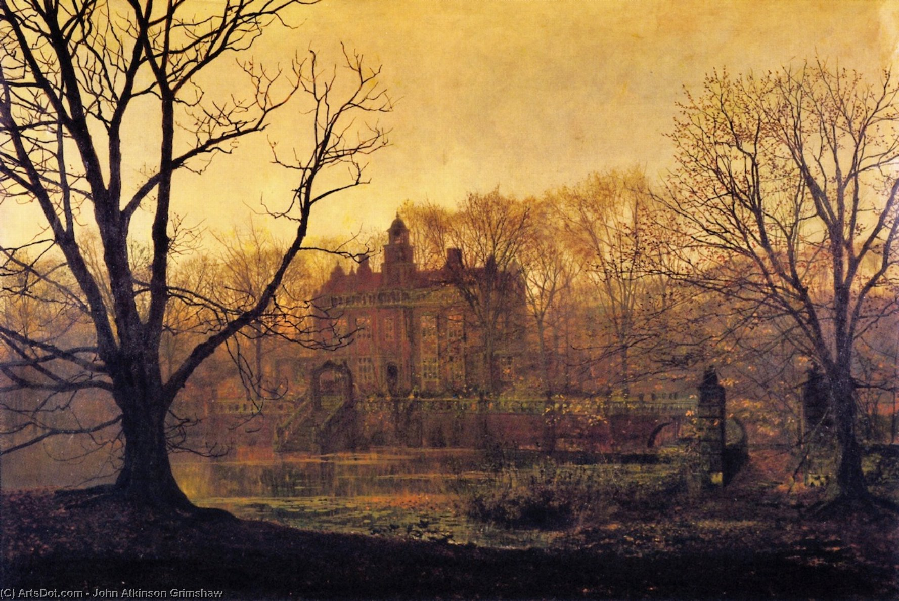 In the Gloaming, Oil On Canvas by John Atkinson Grimshaw (1836-1893, United Kingdom)