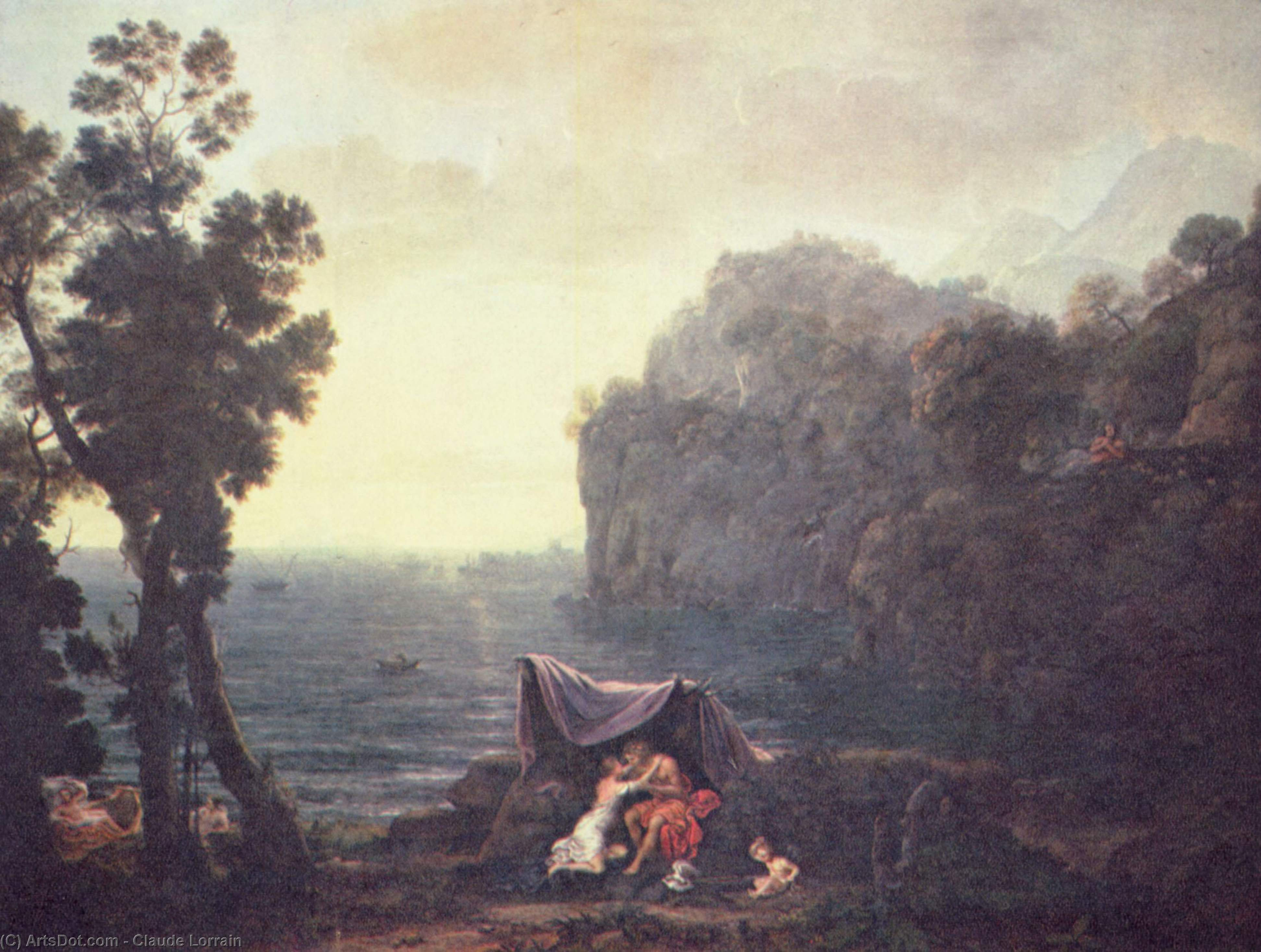 Acis and Galatea, Oil On Canvas by Claude Lorrain (Claude Gellée)