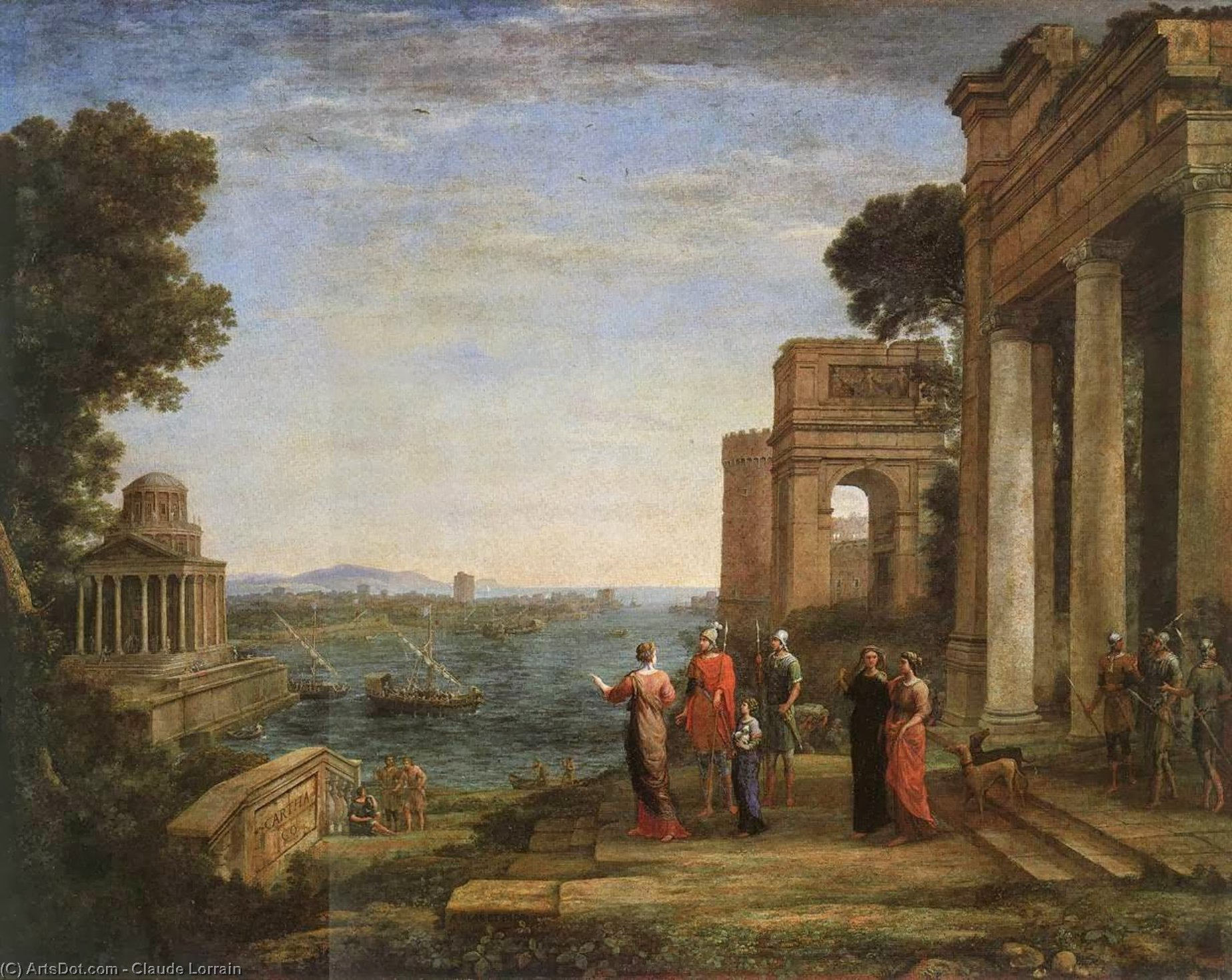 Aeneas and Dido in Carthage, Oil On Canvas by Claude Lorrain (Claude Gellée)