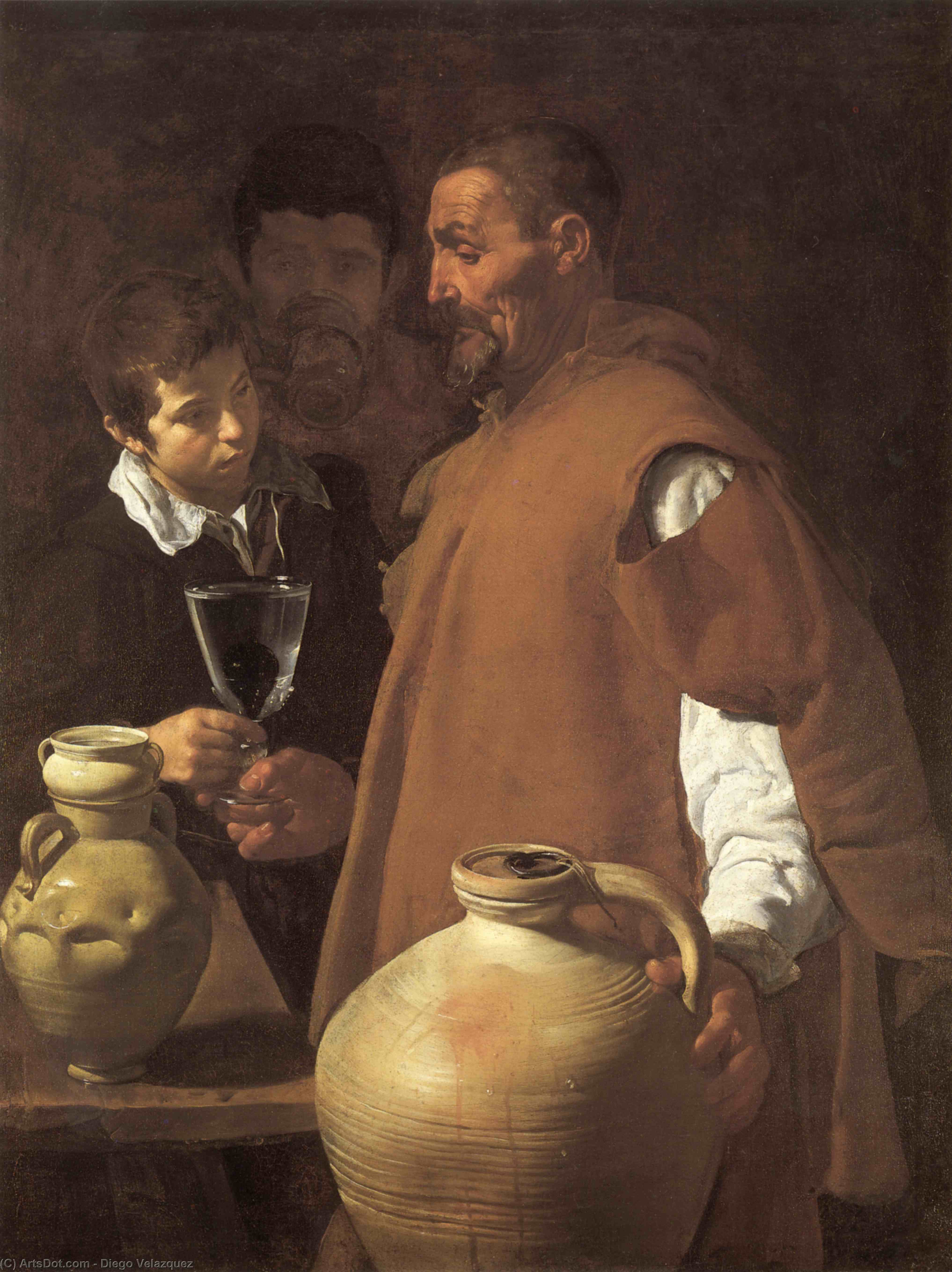 The Waterseller of Seville, Oil On Canvas by Diego Velazquez (1599-1660, Spain)